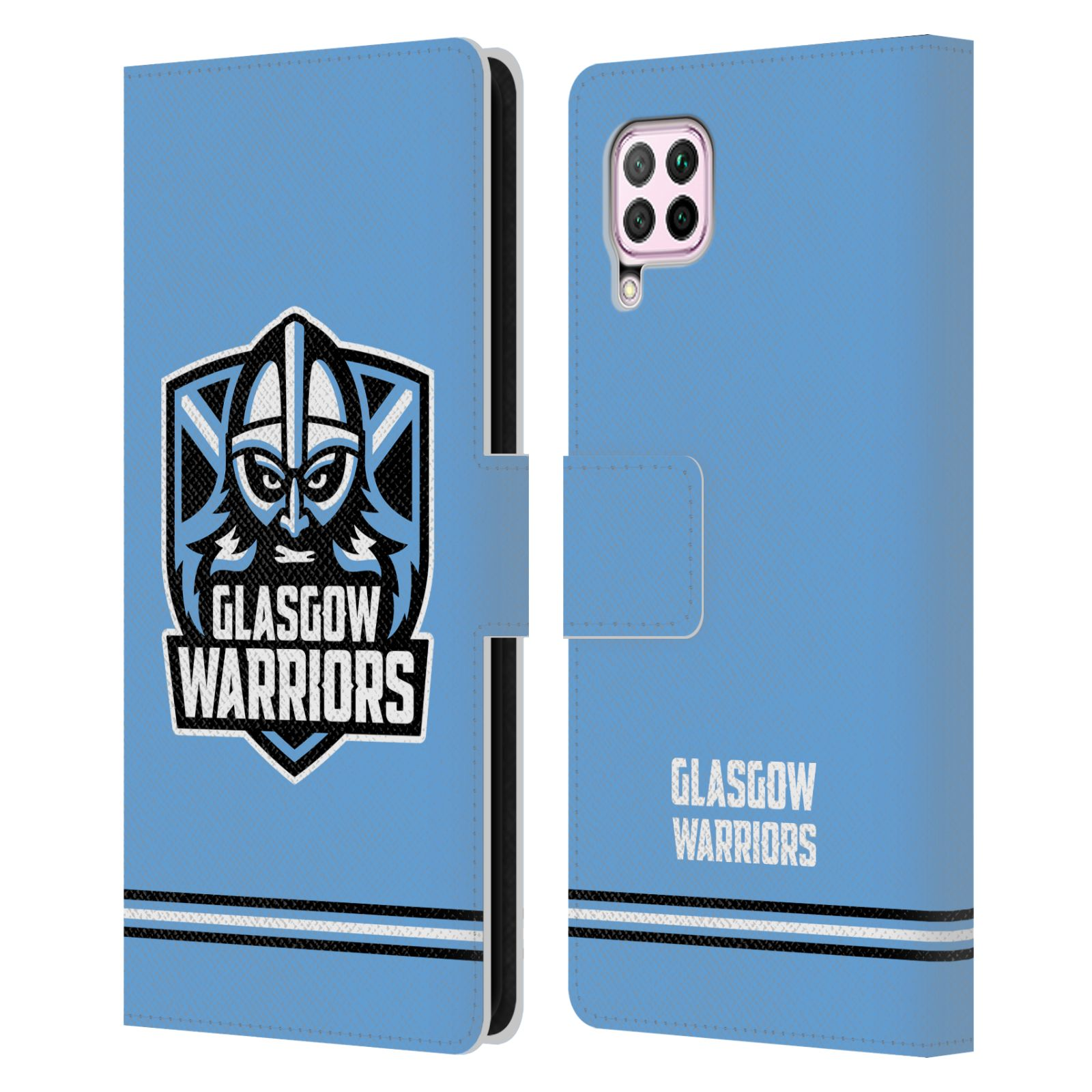 Official Glasgow Warriors 2019/20 Logo Art Stripes Blue Leather Book Wallet Case For Huawei Nova 6 SE