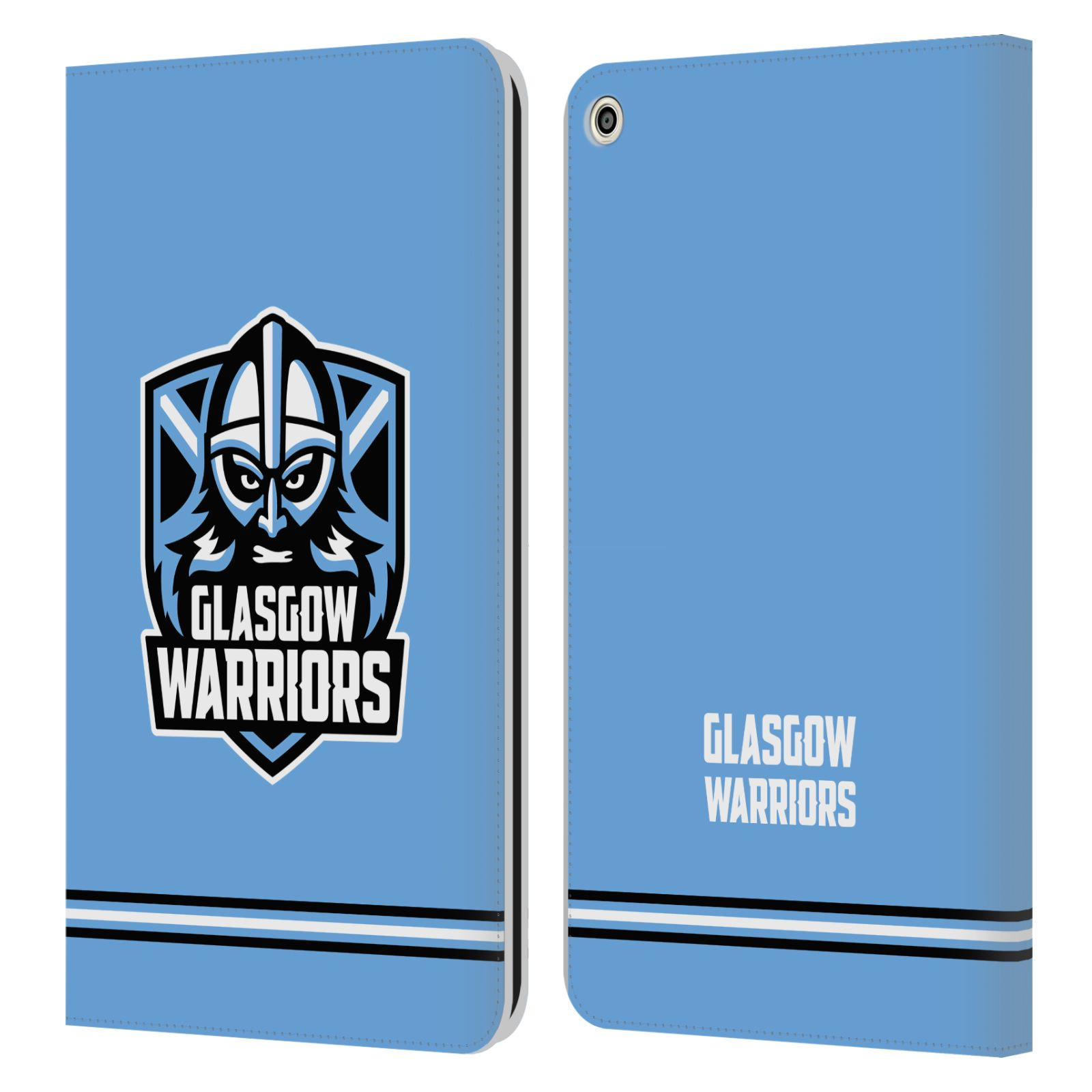 Official Glasgow Warriors 2019/20 Logo Art Stripes Blue Leather Book Wallet Case For Huawei MediaPad T3 8.0