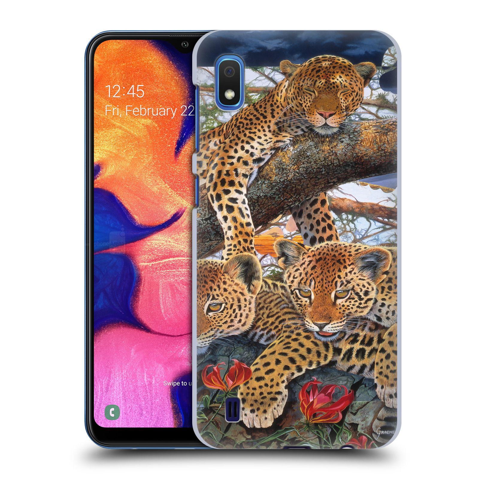 Official Graeme Stevenson Wildlife Leopard Case for Samsung Galaxy A10 (2019)