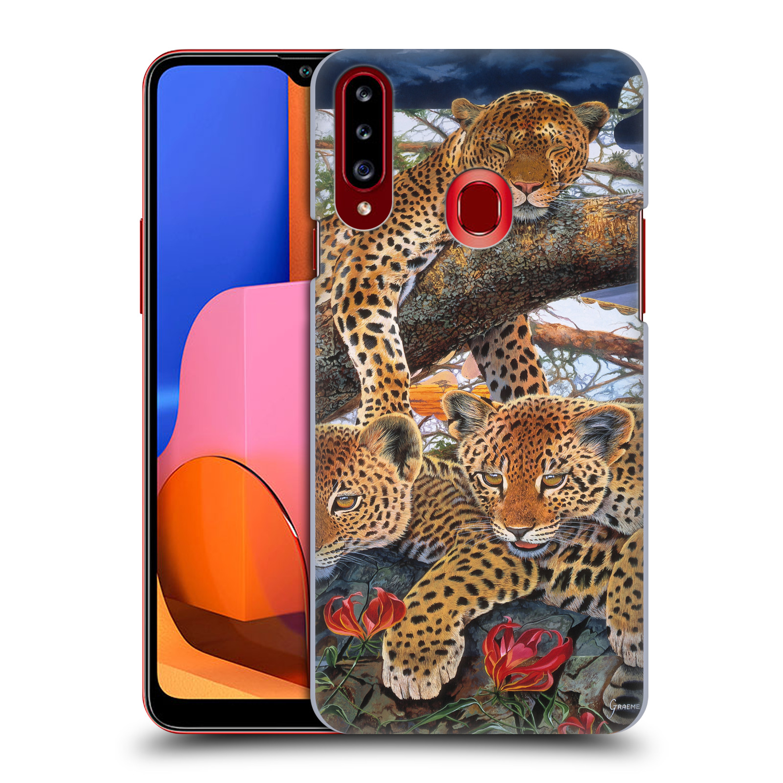 Official Graeme Stevenson Wildlife Leopard Case for Samsung Galaxy A20s (2019)