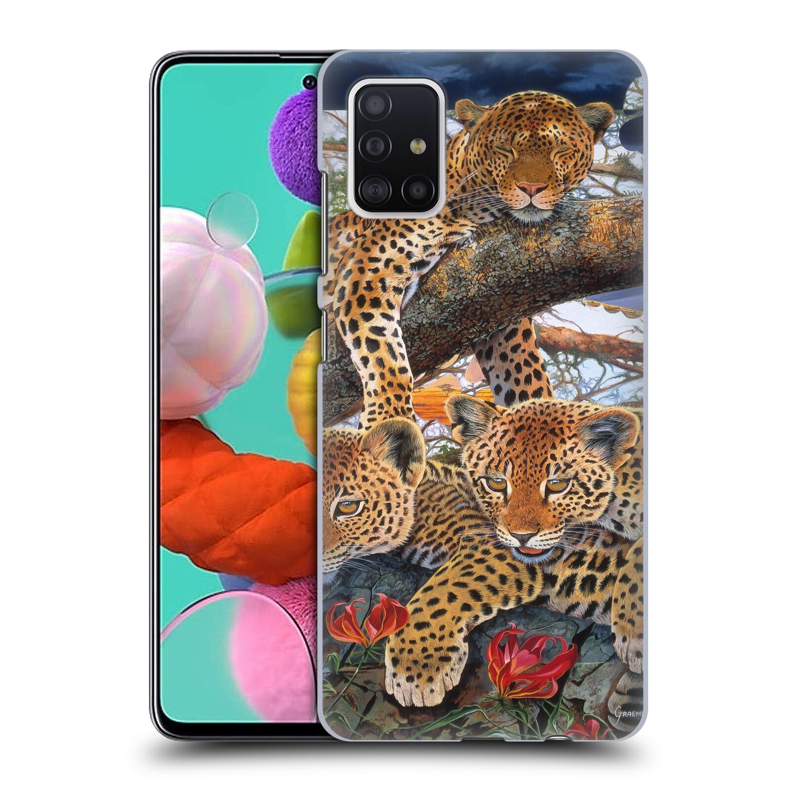 Official Graeme Stevenson Wildlife Leopard Case for Samsung Galaxy A51 (2019)