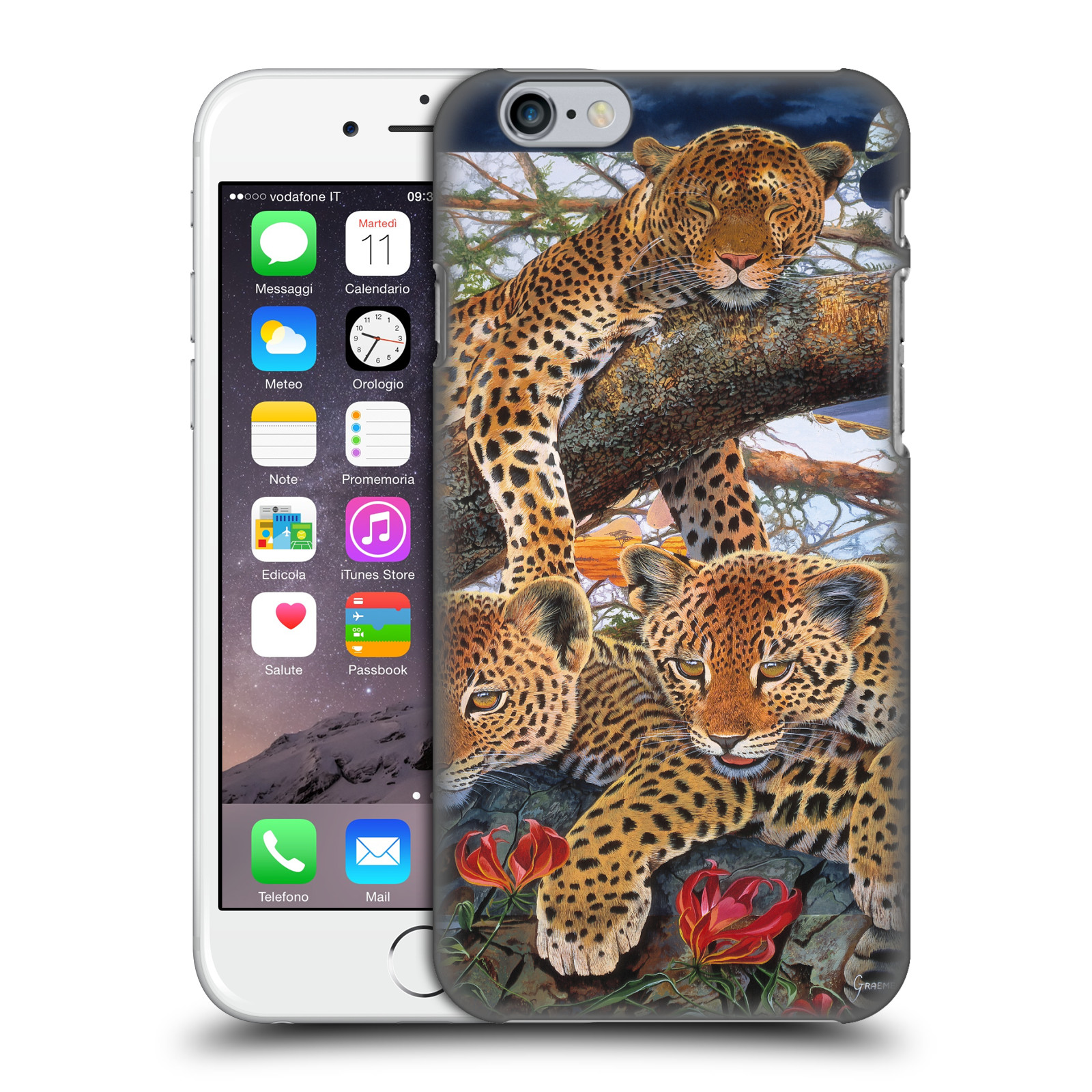 Official Graeme Stevenson Wildlife Leopard Case for Apple iPhone 6 / iPhone 6s