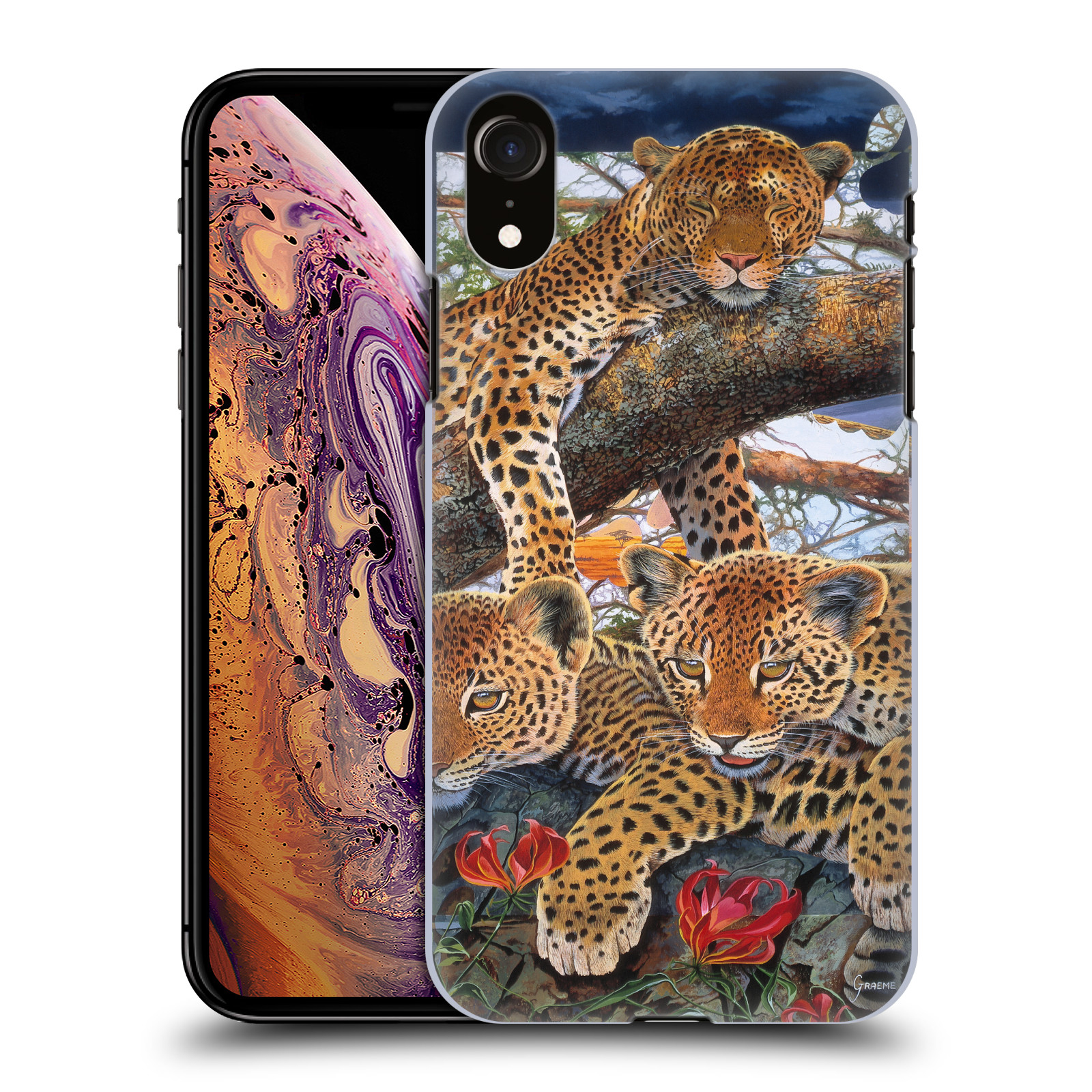 Official Graeme Stevenson Wildlife Leopard Case for Apple iPhone XR