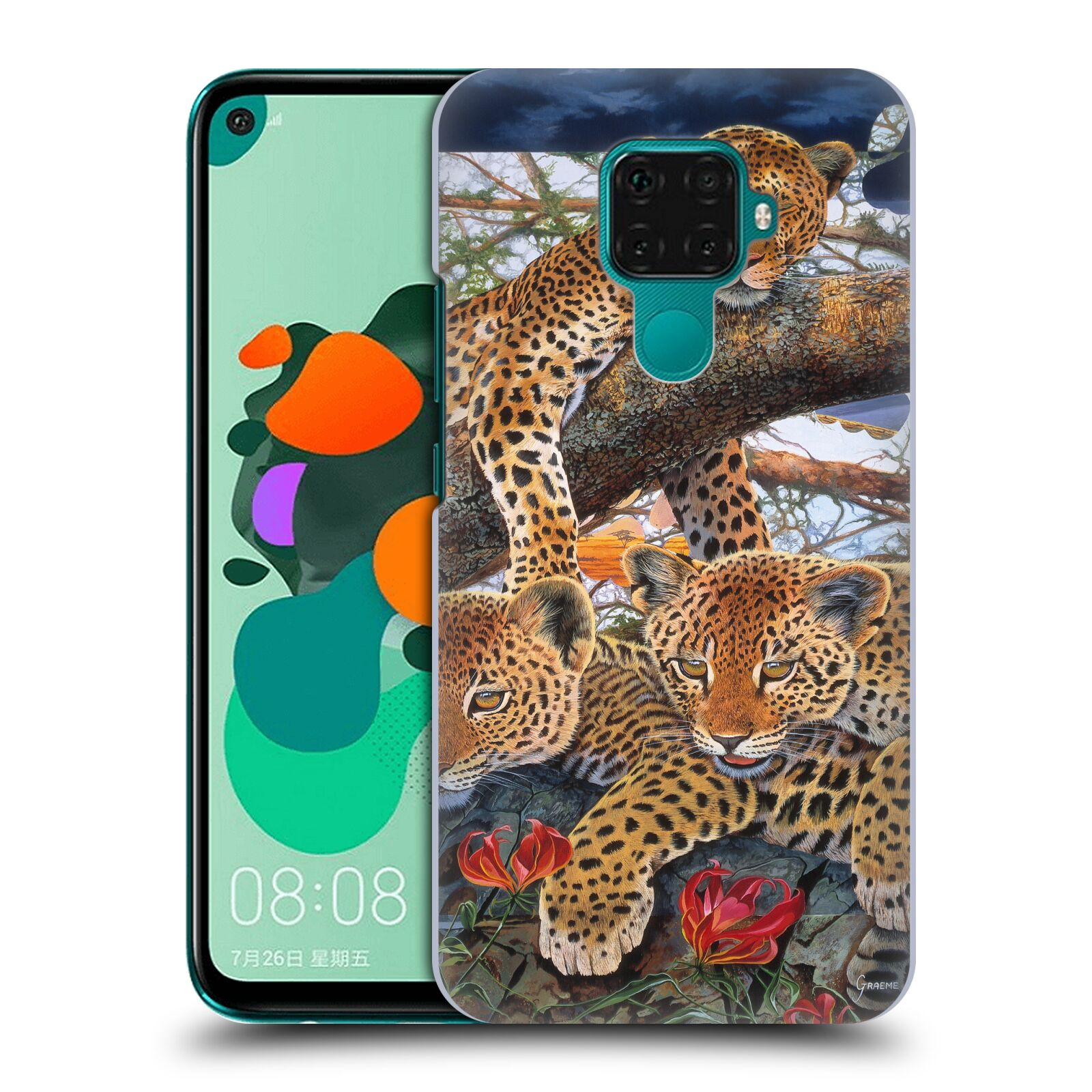 Official Graeme Stevenson Wildlife Leopard Case for Huawei Nova 5i Pro/Mate 30 Lite