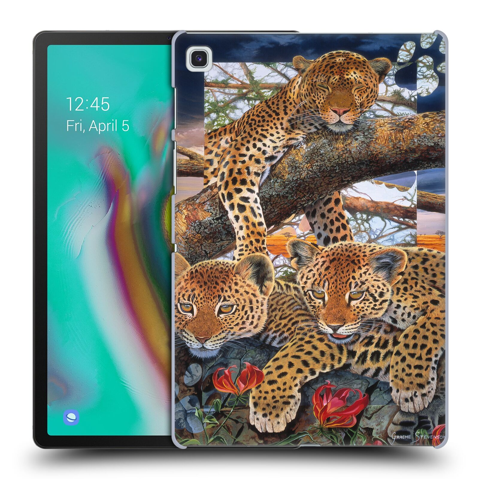 Official Graeme Stevenson Wildlife Leopard Case for Samsung Galaxy Tab S5e