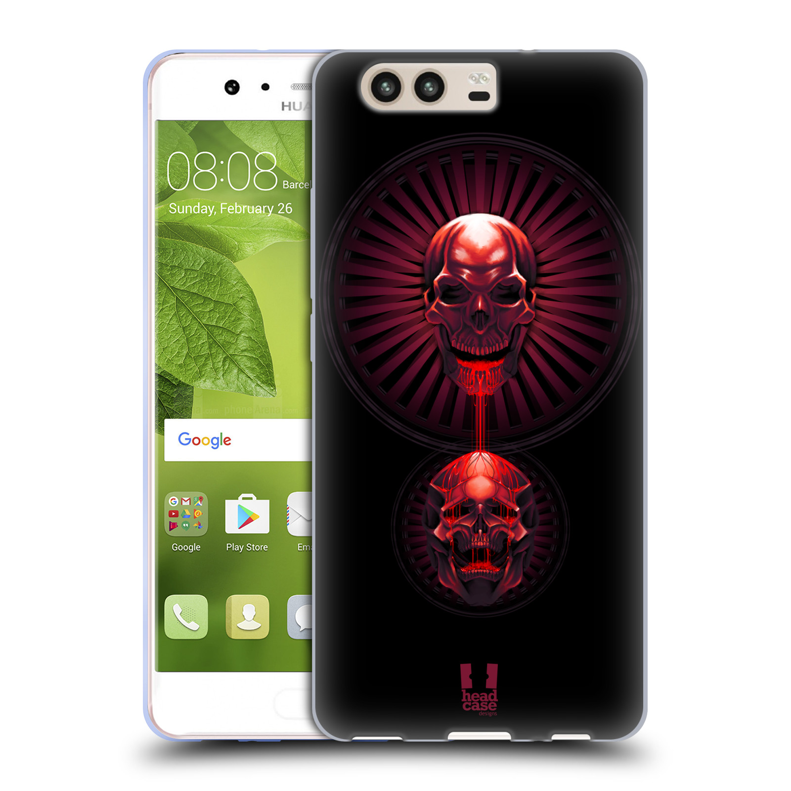 HEAD-CASE-DESIGNS-INQUIETANTE-COVER-MORBIDA-IN-GEL-PER-HUAWEI-P10