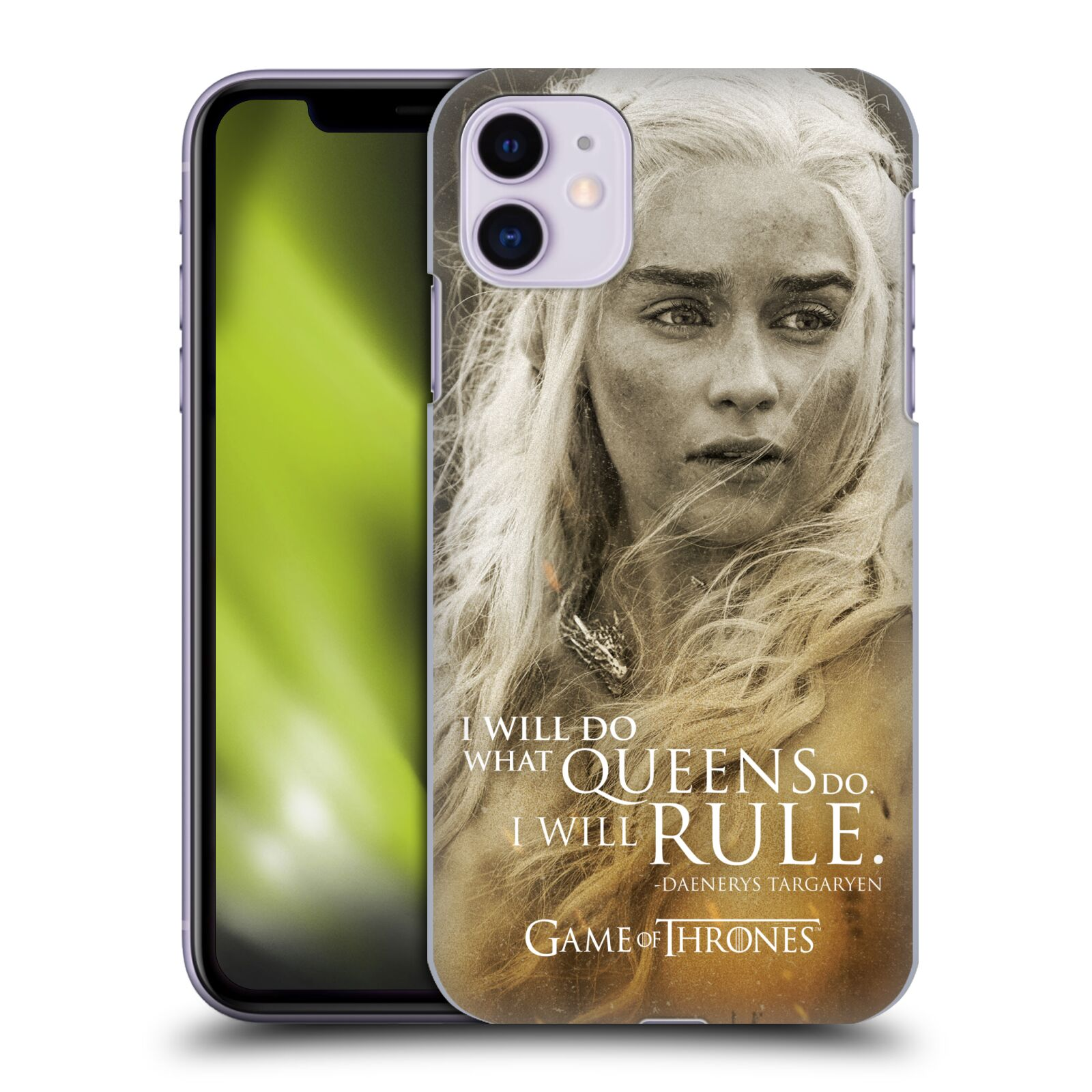 Offizielle HBO Game of Thrones Character Portraits Daenerys Targaryen Hülle für Apple iPhone 11