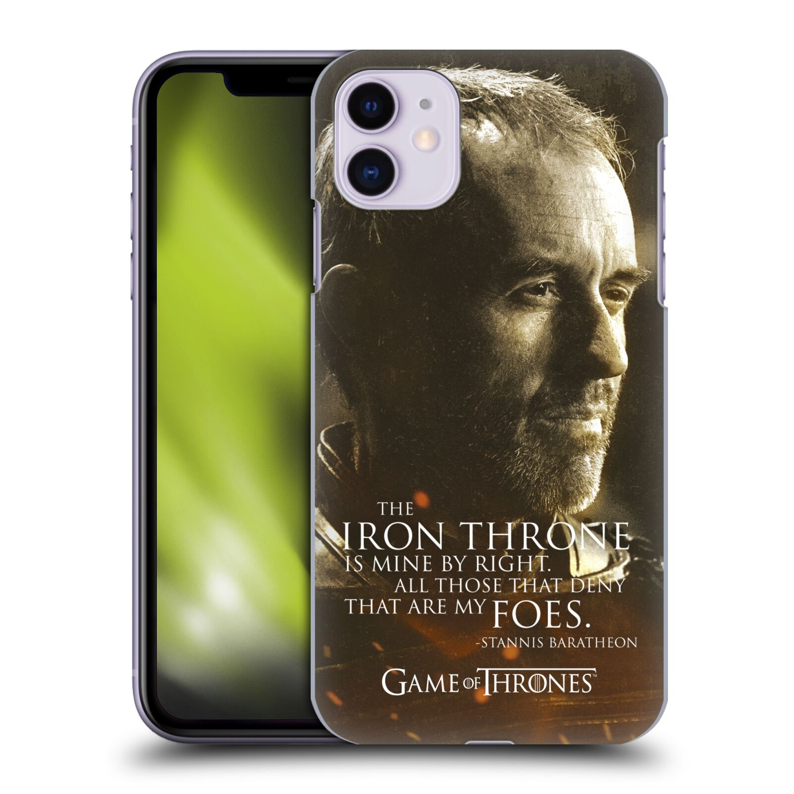 Offizielle HBO Game of Thrones Character Portraits Stannis Baratheon Hülle für Apple iPhone 11