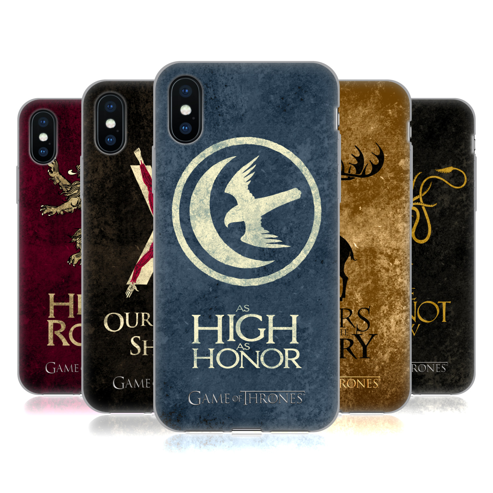 Official HBO Game of Thrones Dark Distressed Look Sigils