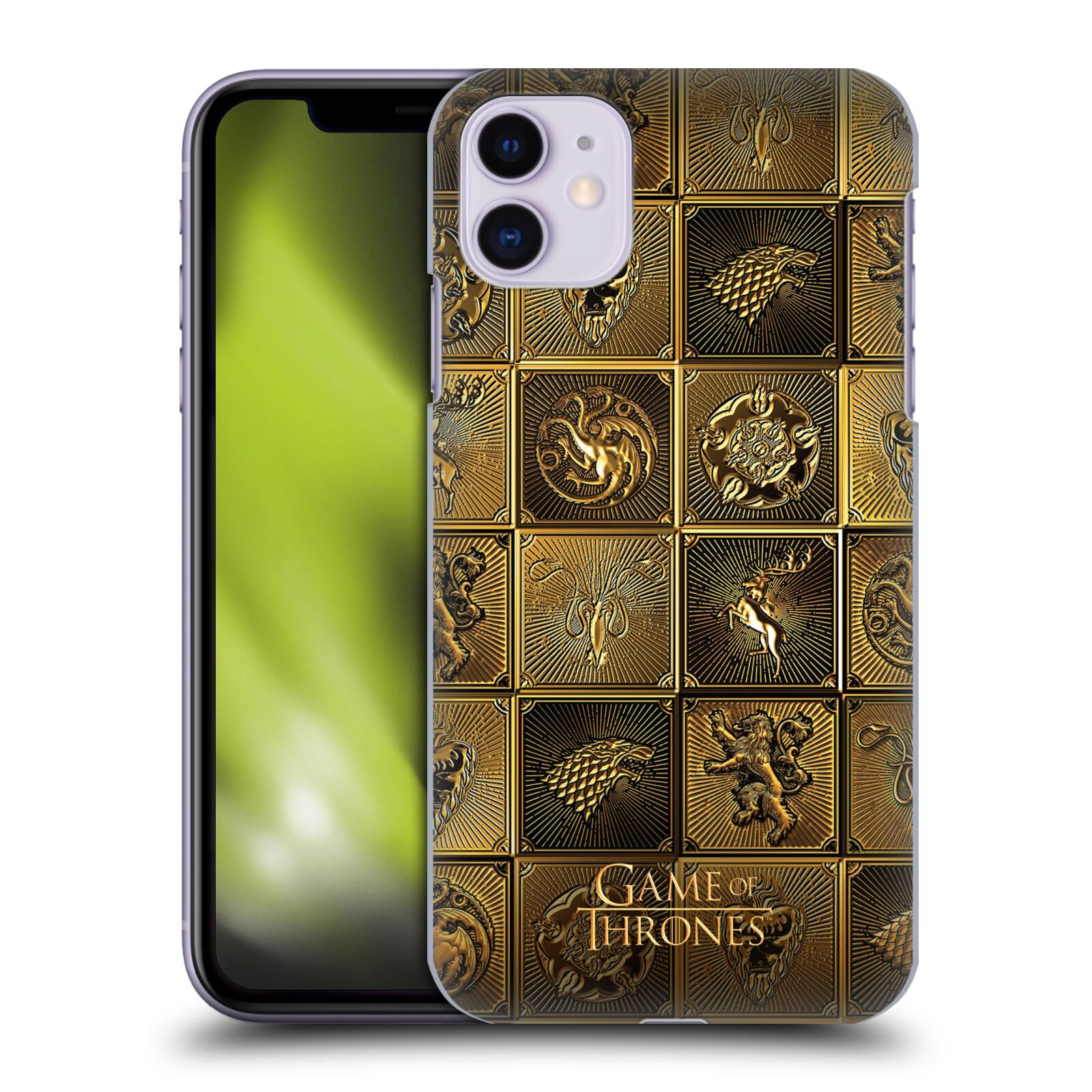 Offizielle HBO Game of Thrones Golden Sigils All Houses Hülle für Apple iPhone 11