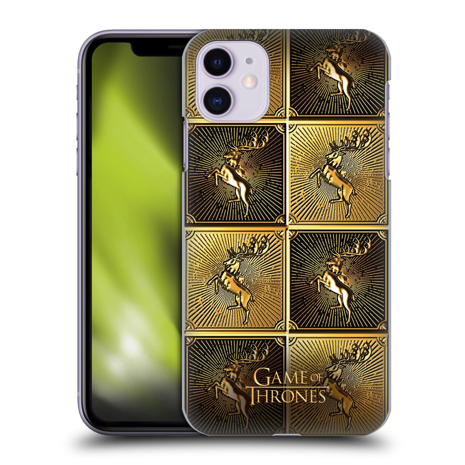 Offizielle HBO Game of Thrones Golden Sigils Baratheon Hülle für Apple iPhone 11