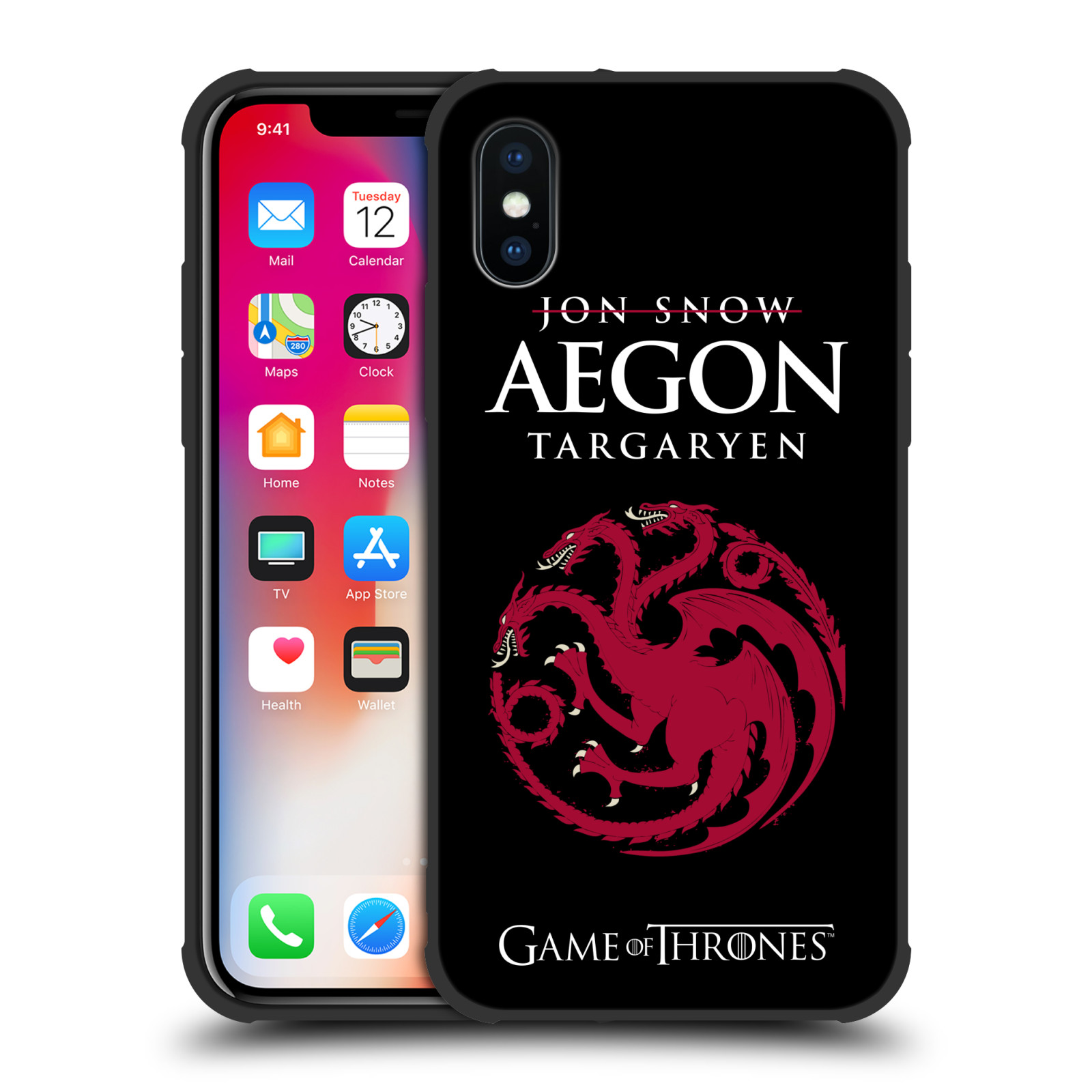 OFFICIAL-HBO-GAME-OF-THRONES-GRAPHICS-MATTE-BLACK-CASE-FOR-APPLE-iPHONE-PHONES