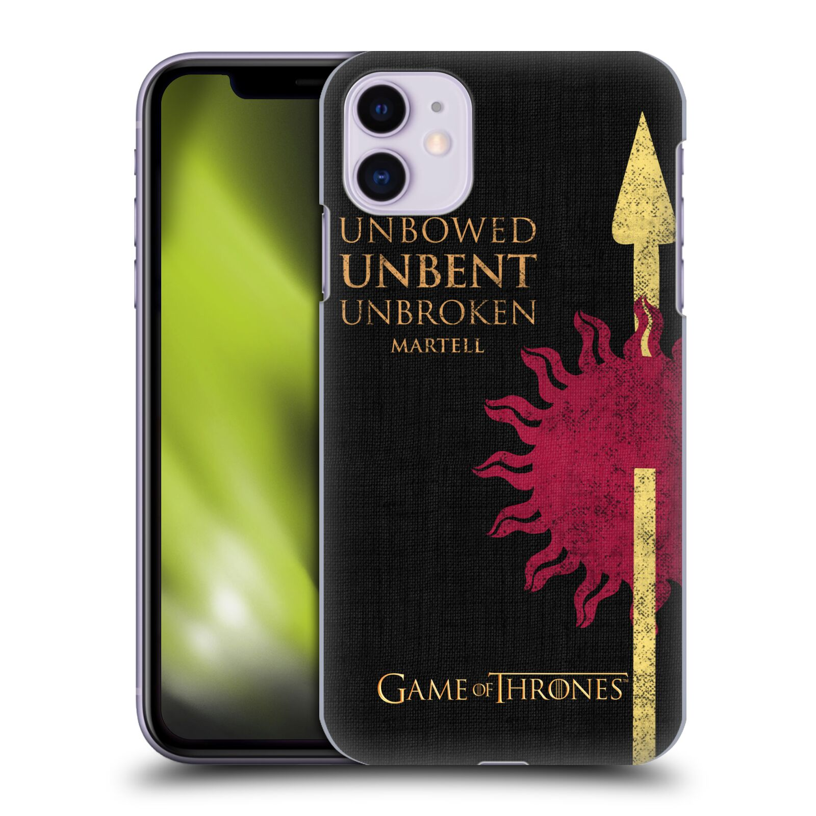 Offizielle HBO Game of Thrones House Mottos Martell Hülle für Apple iPhone 11