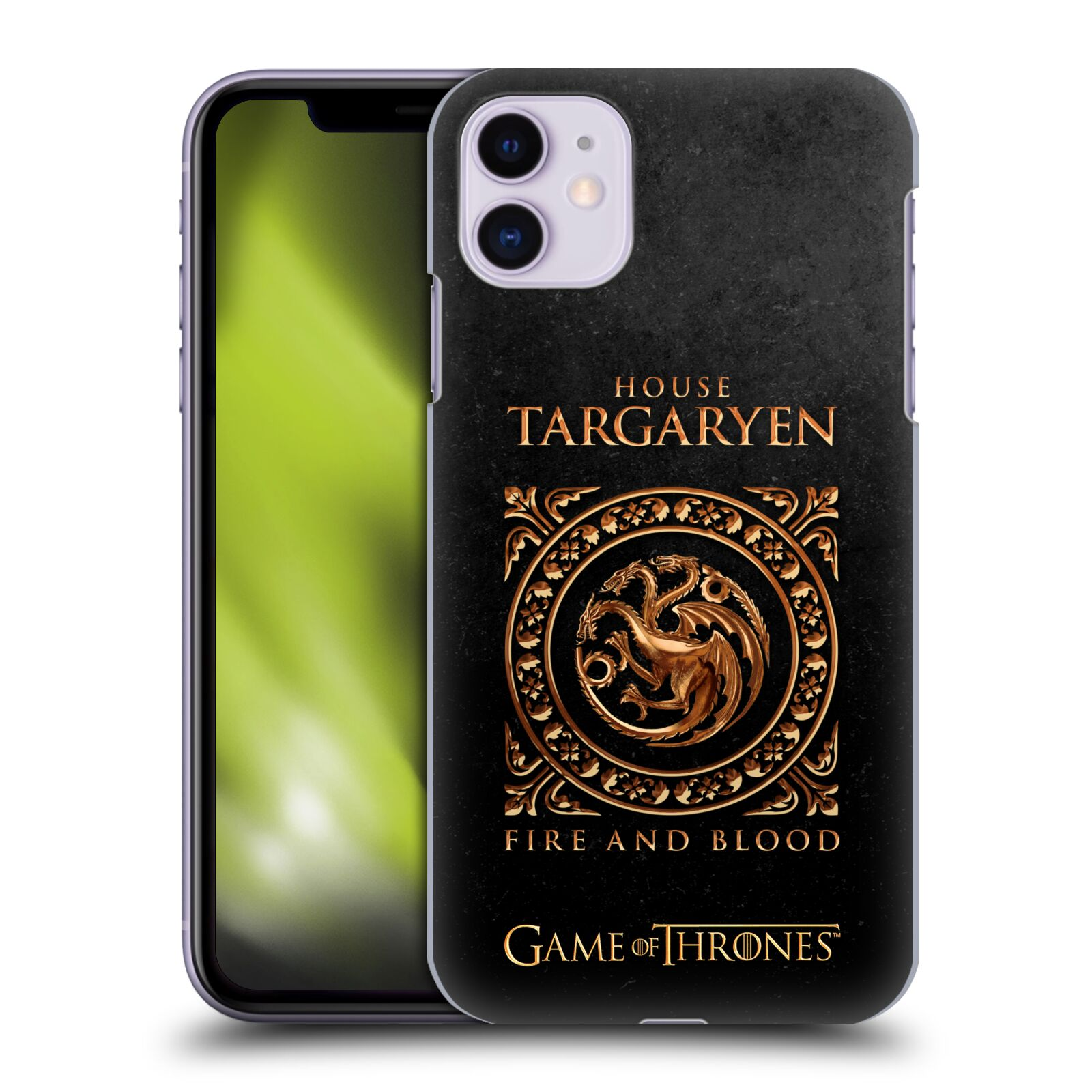 Offizielle HBO Game of Thrones Metallischer Sigils Targaryen Hülle für Apple iPhone 11