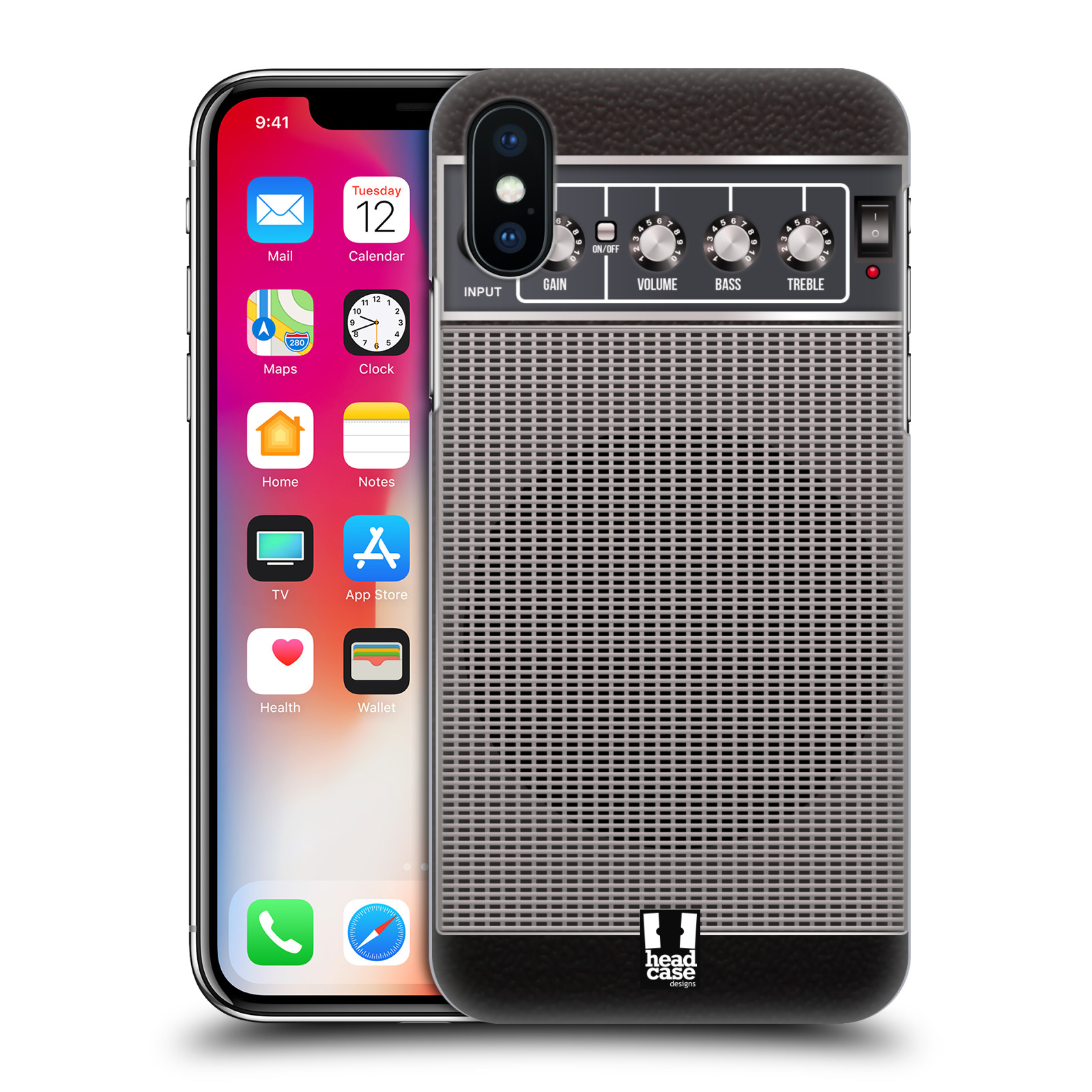 HEAD-CASE-DESIGNS-GUITAR-AMP-HARD-BACK-CASE-FOR-APPLE-iPHONE-X