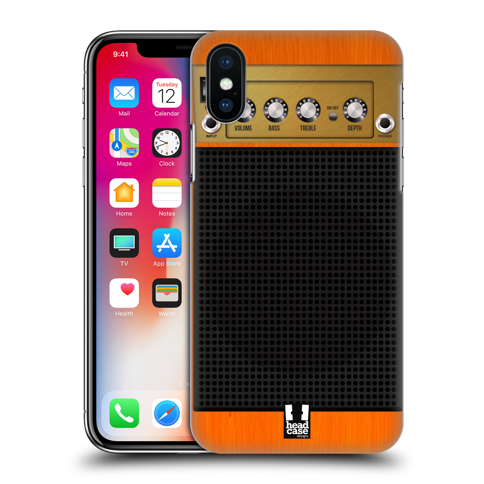 HEAD-CASE-DESIGNS-GUITAR-AMP-HARD-BACK-CASE-FOR-APPLE-iPHONE-X