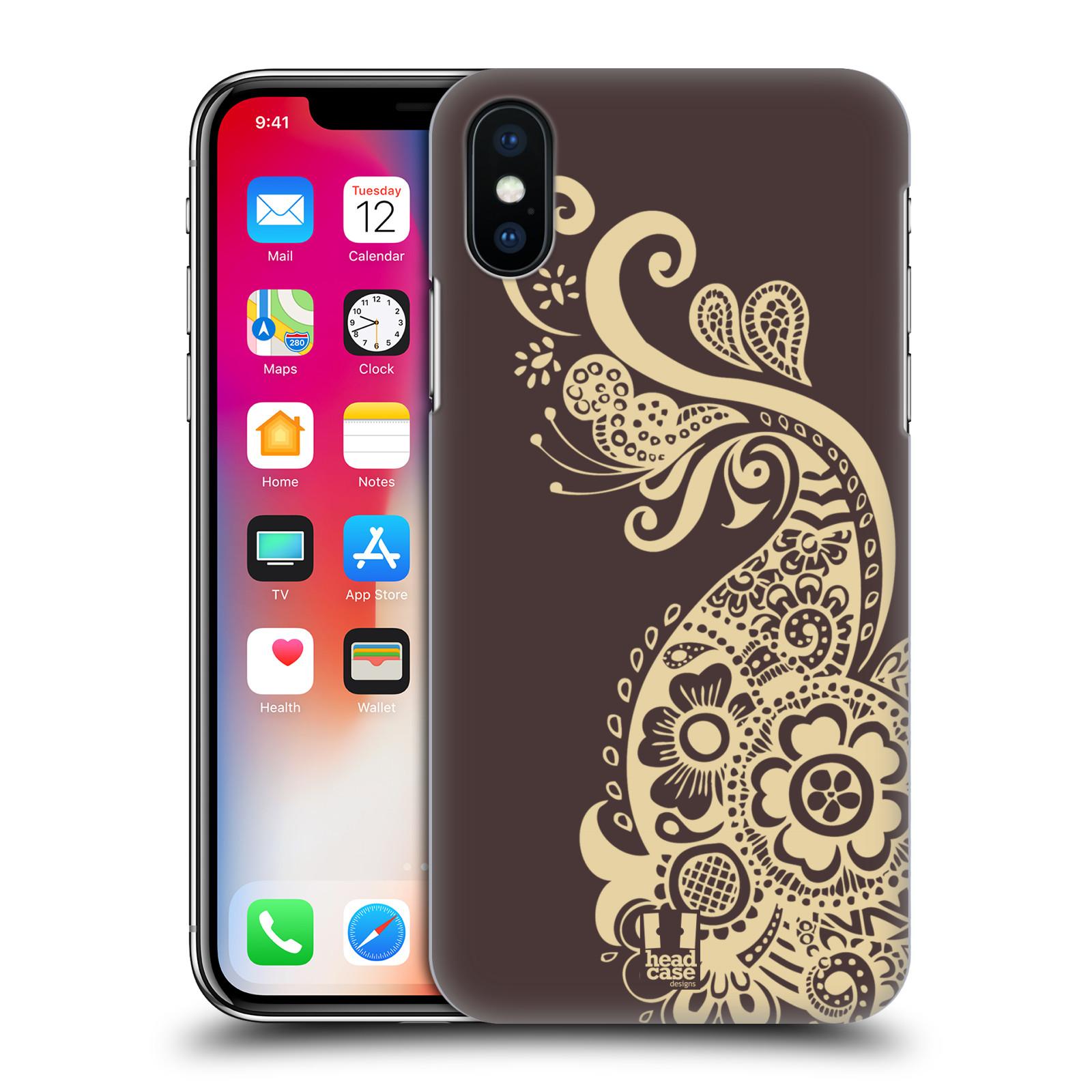HEAD-CASE-DESIGNS-HENNA-ETUI-COQUE-D-039-ARRIERE-RIGIDE-POUR-APPLE-iPHONE-X