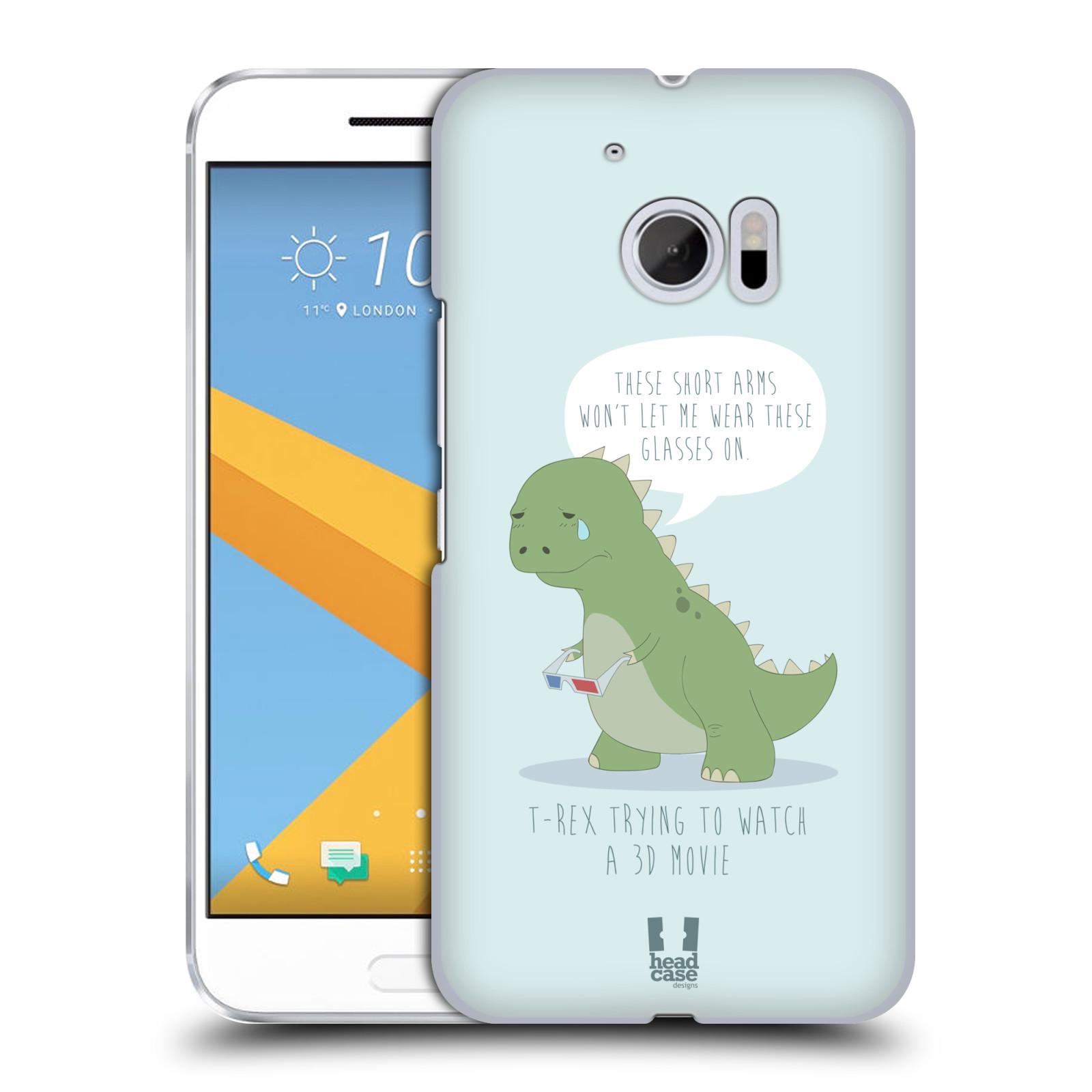 Diseños de los tiempos difíciles de caso HEAD A T-Rex Funda Rígida Posterior Para HTC 10