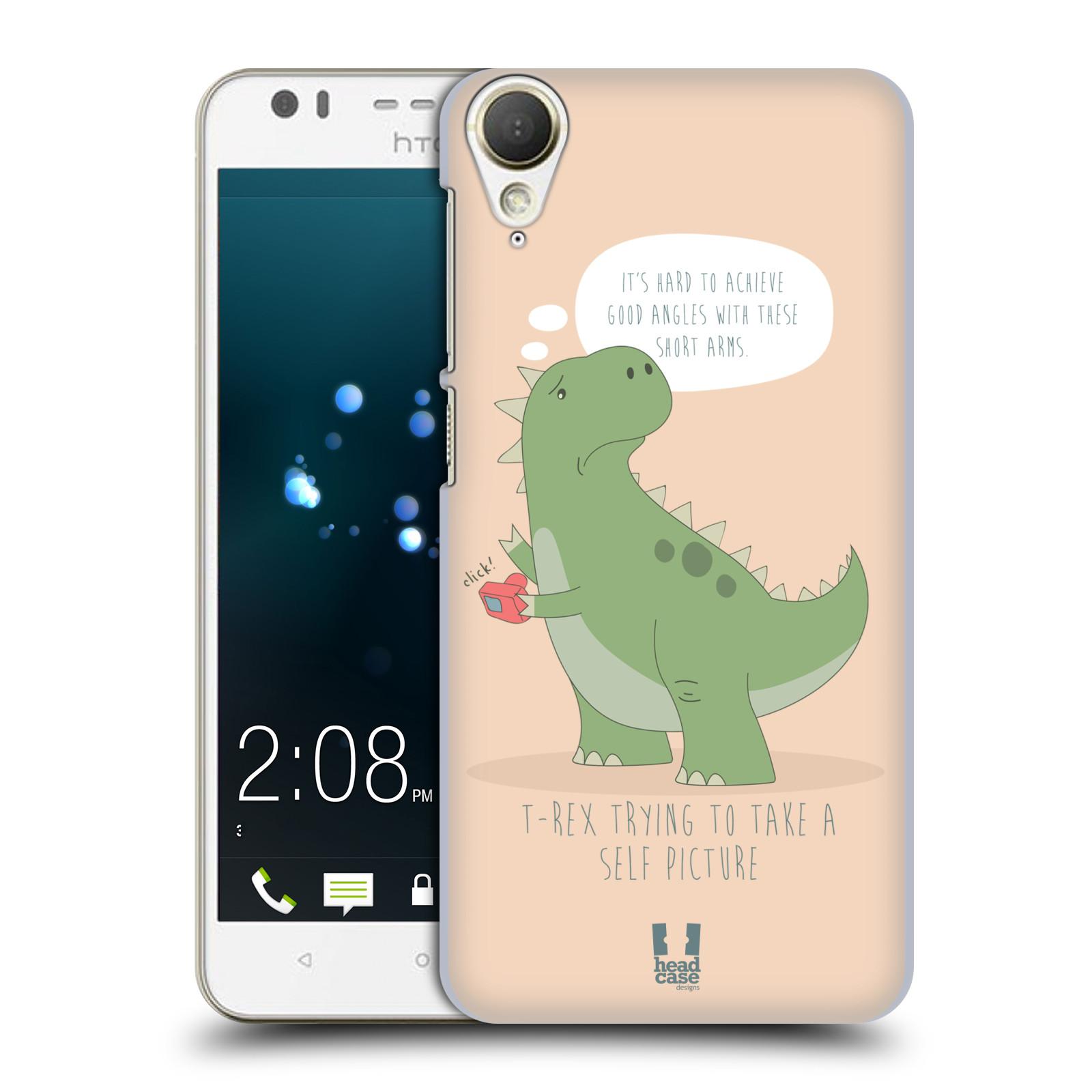 Diseños de los tiempos difíciles de caso HEAD A T-Rex volver estuche para HTC DESIRE 10 estilo de vida