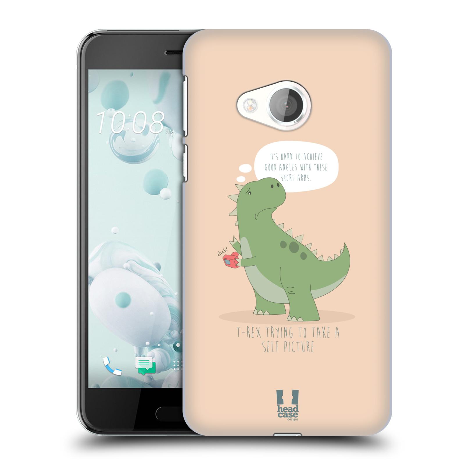 Diseños de los tiempos difíciles de caso HEAD A T-Rex Funda Rígida Posterior Para HTC U PLAY