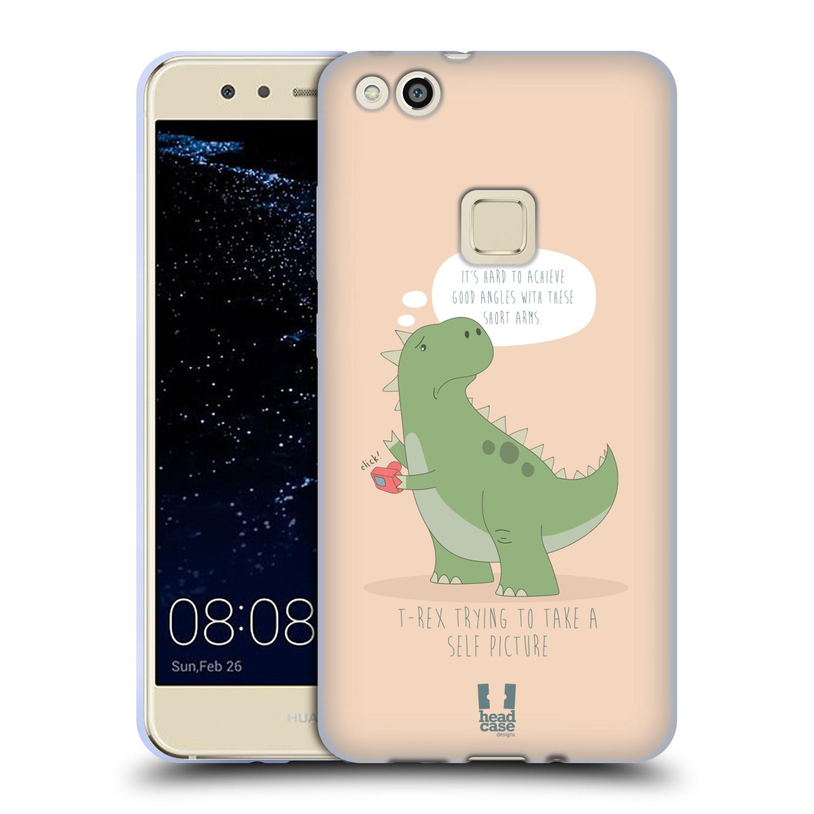 Funda HEAD CASE DESIGNS de los tiempos difíciles de T-Rex Suave con Gel para Huawei P10 Lite