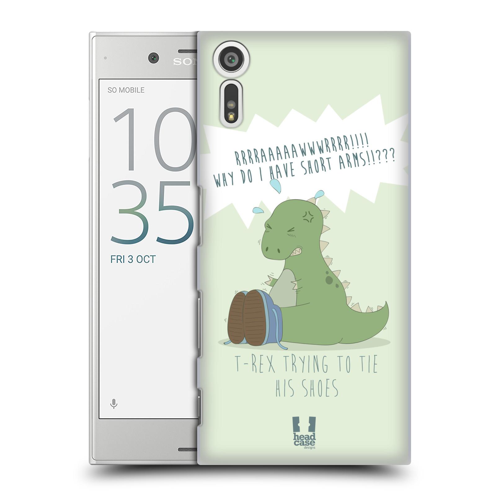 Funda HEAD CASE DESIGNS de los tiempos difíciles de T-Rex Funda Rígida Posterior Para Sony Xperia Xz