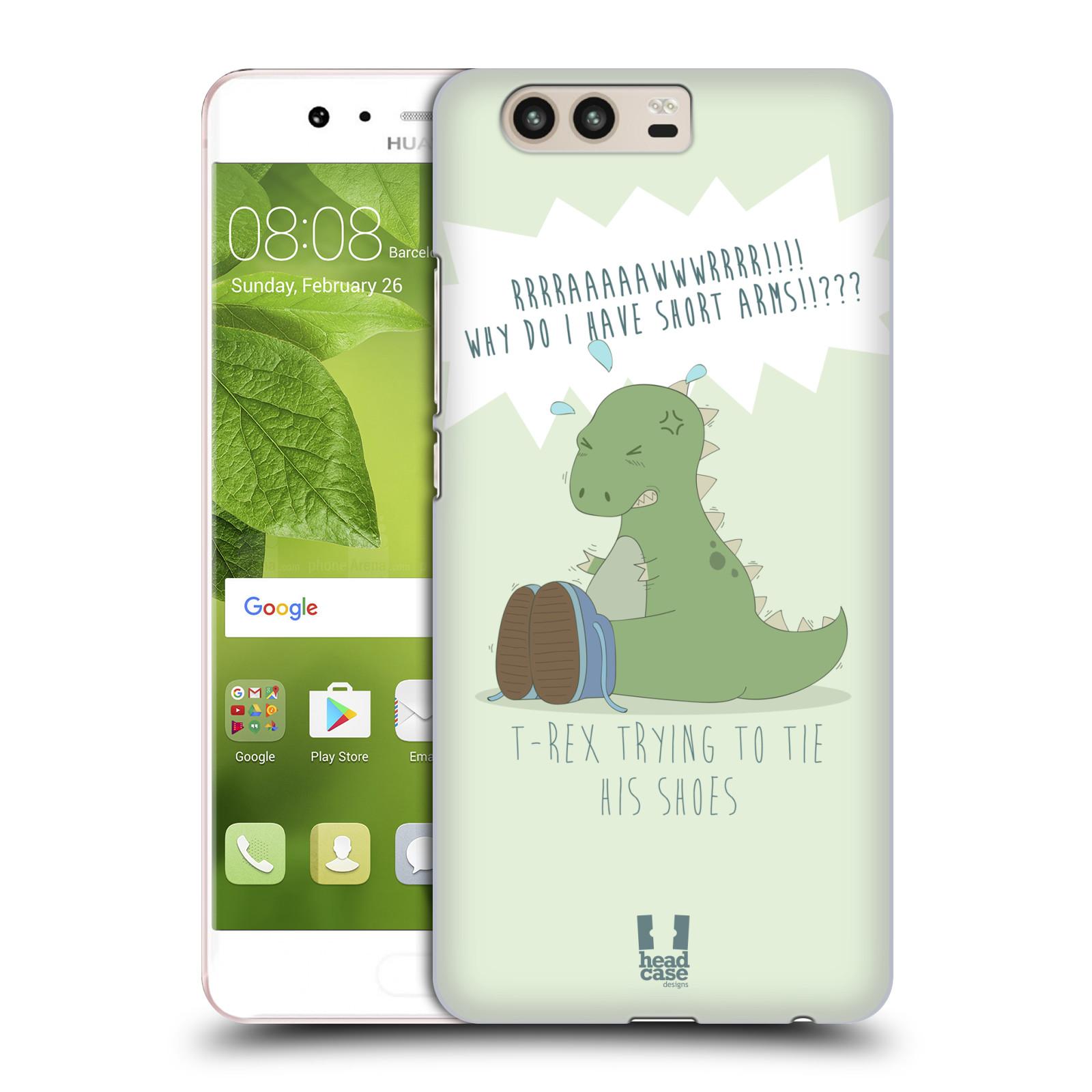 Funda HEAD CASE DESIGNS de los tiempos difíciles de T-Rex Dorso duro caso para Huawei P10