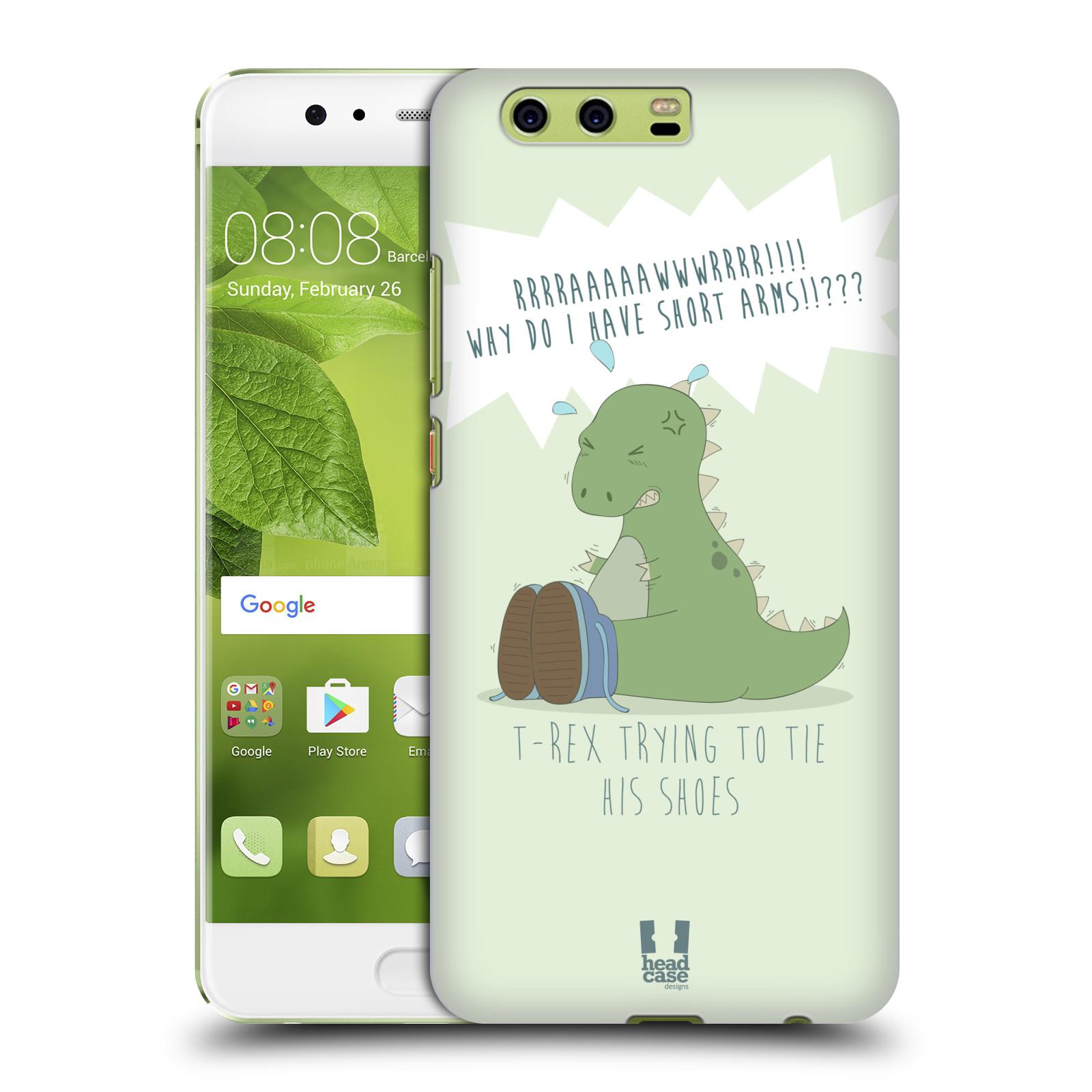 Funda HEAD CASE DESIGNS de los tiempos difíciles de T-Rex Dorso duro caso para Huawei P10 Plus