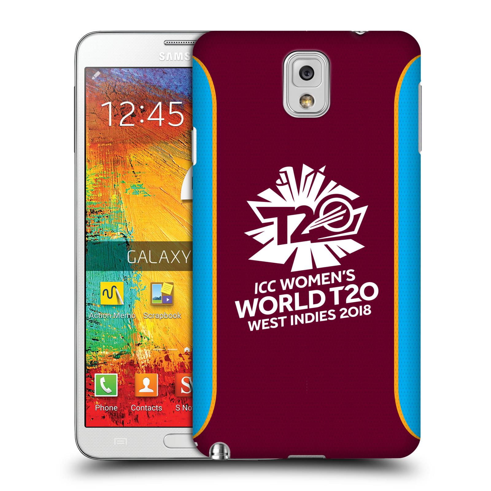 Oficial-ICC-para-mujer-World-T20-Cricket-Funda-Rigida-Posterior-Para-Telefonos-Samsung-2
