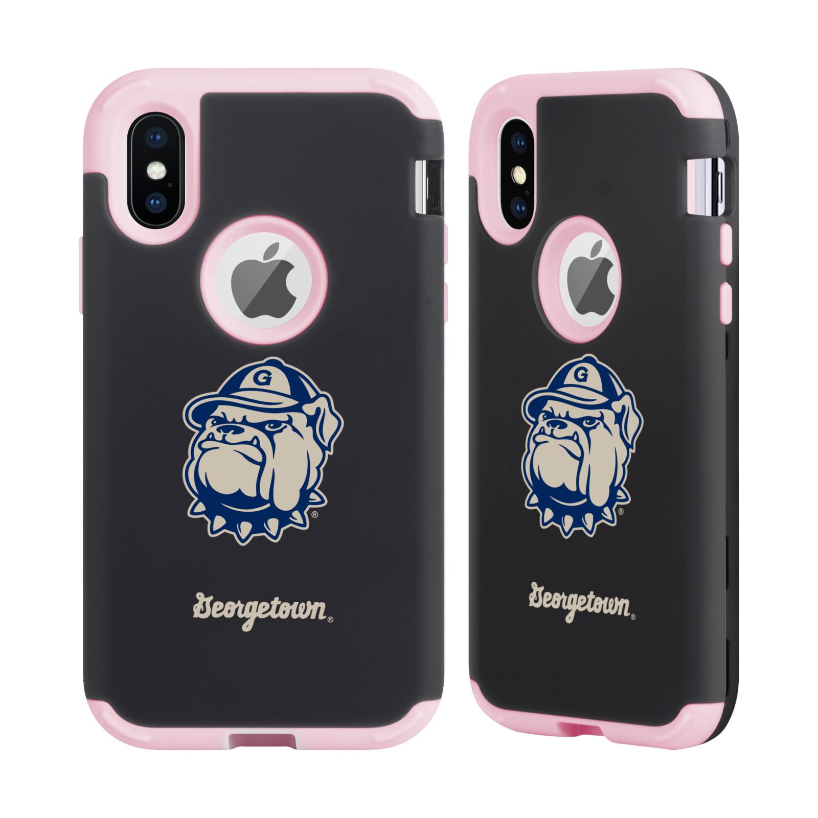 GEORGETOWN-UNIVERSITY-2-LIGHT-PINK-SENTRY-CASE-FOR-APPLE-iPHONE-SAMSUNG-PHONES
