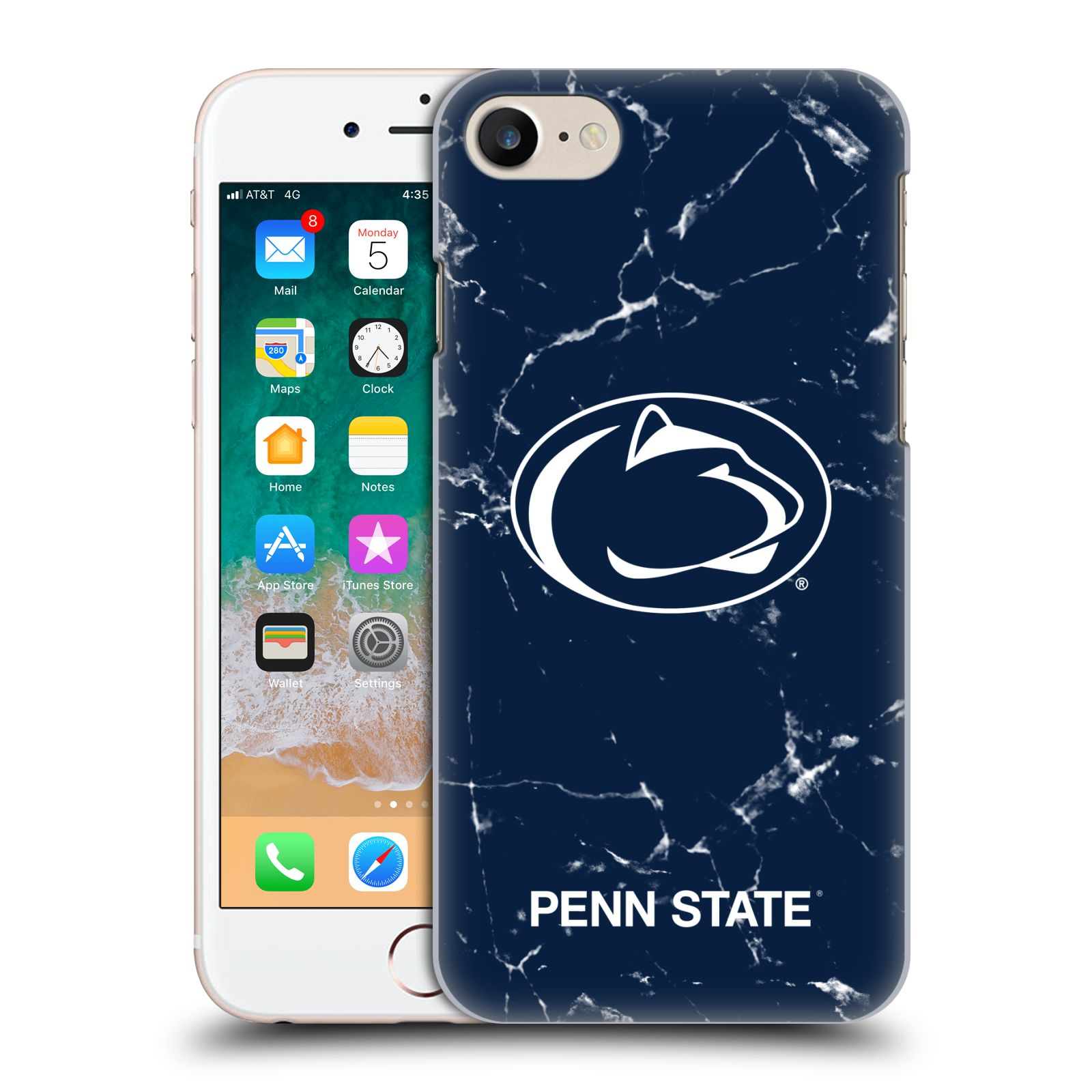 Official Pennsylvania State University PSU The Pennsylvania State University Marble Case for Apple iPhone 7 / 8 / iPhone SE 2020