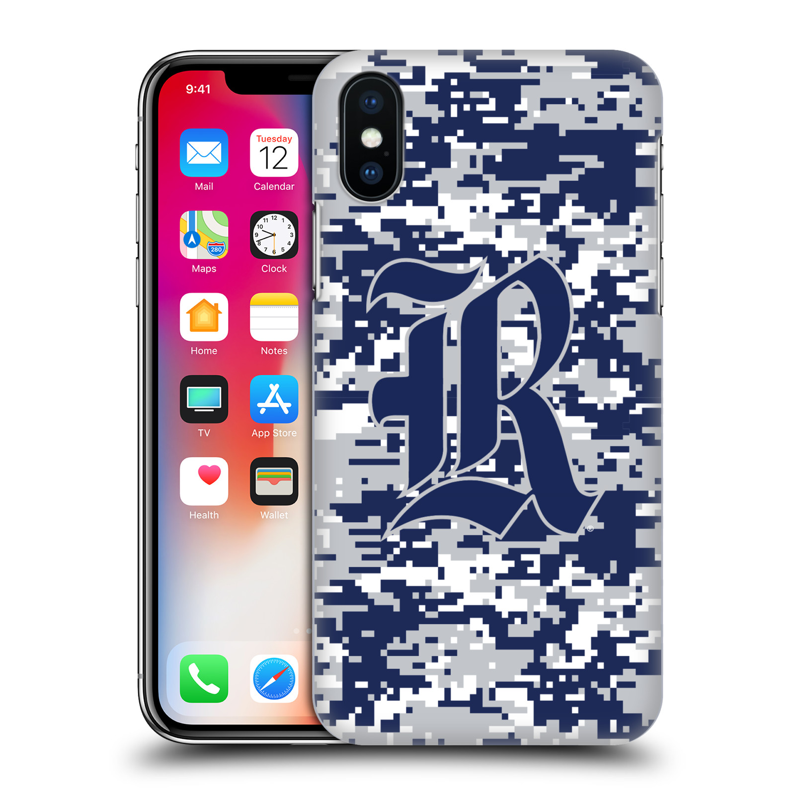 UFFICIALE-RICE-UNIVERSITY-COVER-RETRO-RIGIDA-PER-APPLE-iPHONE-TELEFONI
