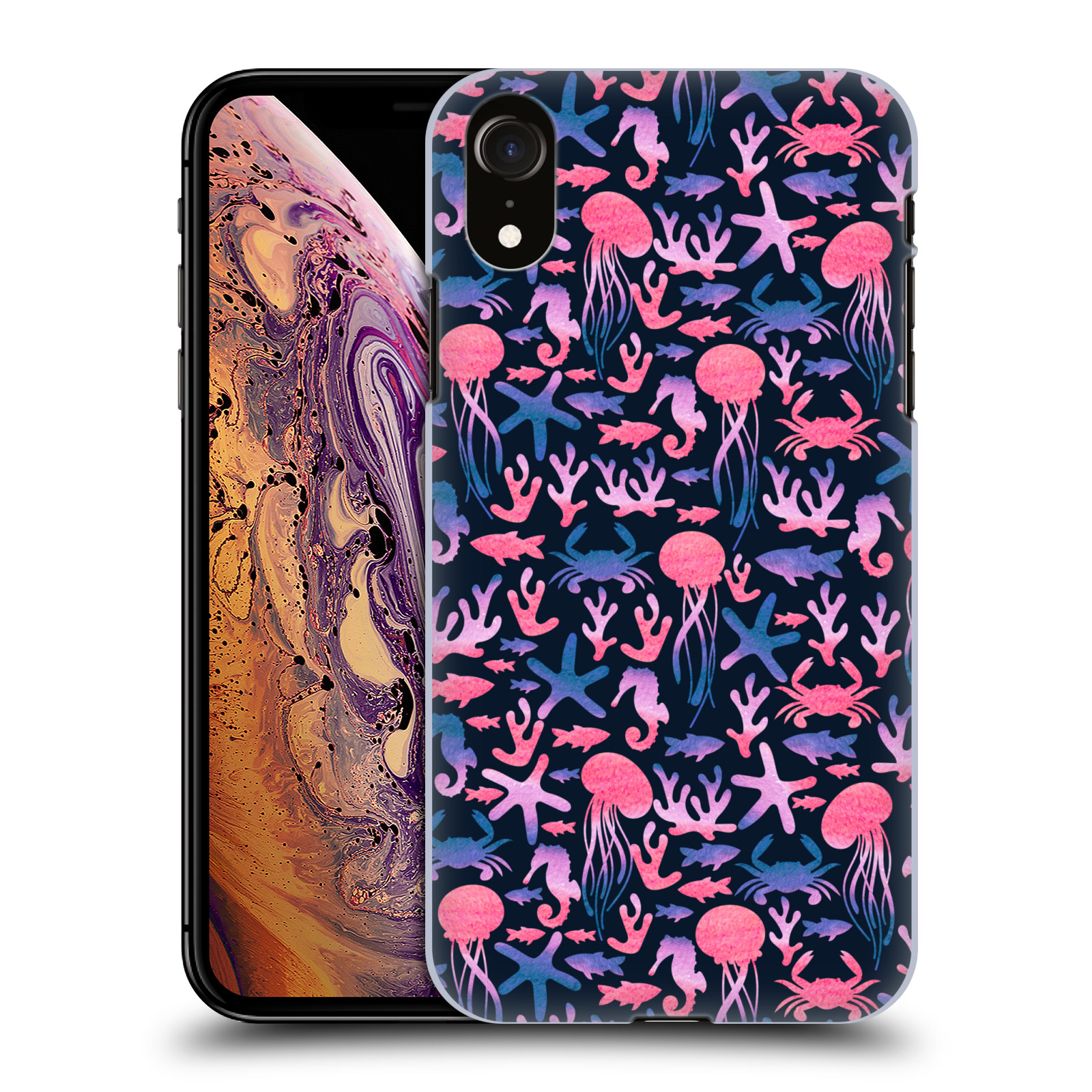 Official Julia Badeeva  Animal Patterns 4 Sea Pattern Case for Apple iPhone XR