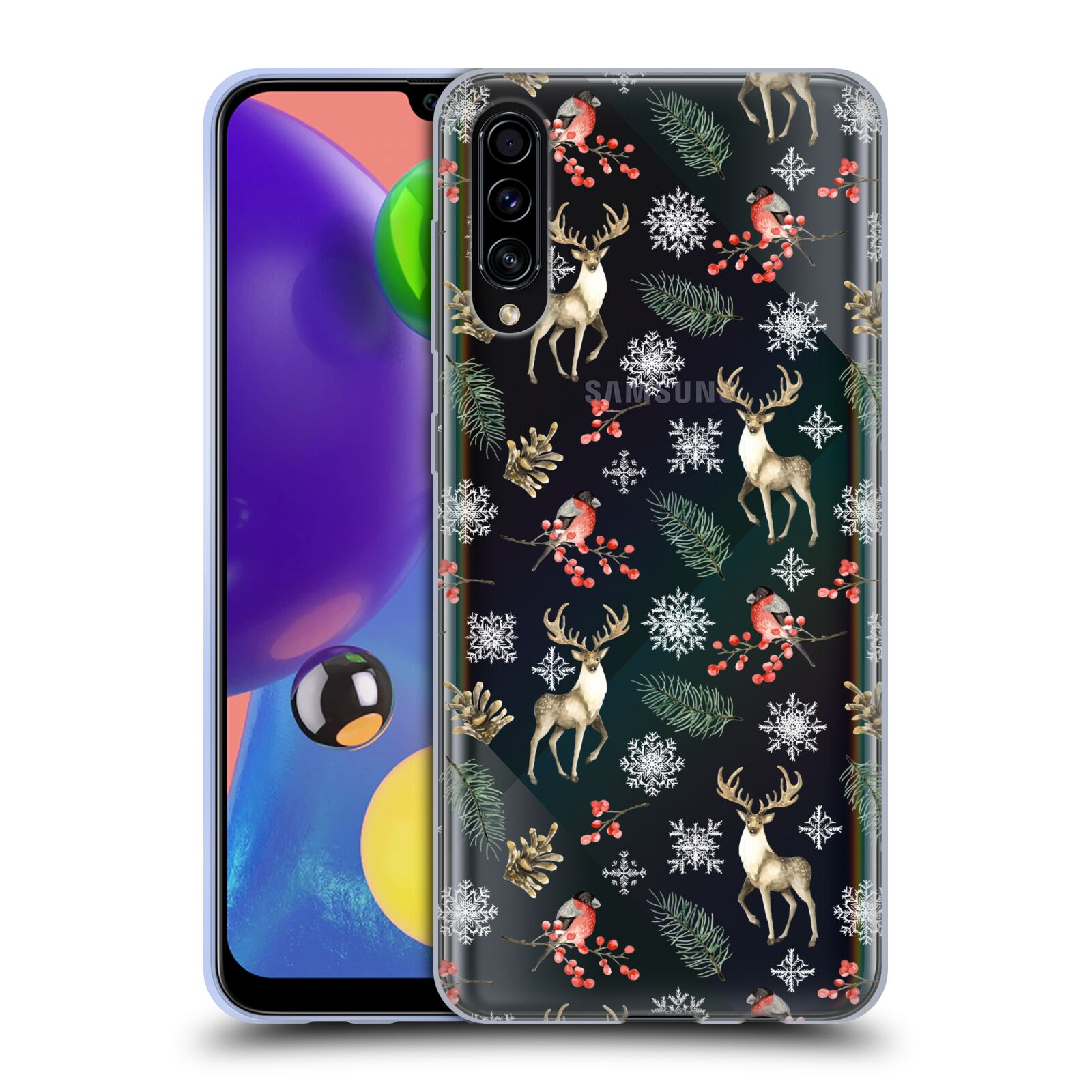 Official Julia Badeeva  Animal Patterns 4 Snowflakes Gel Case for Samsung Galaxy A70s (2019)