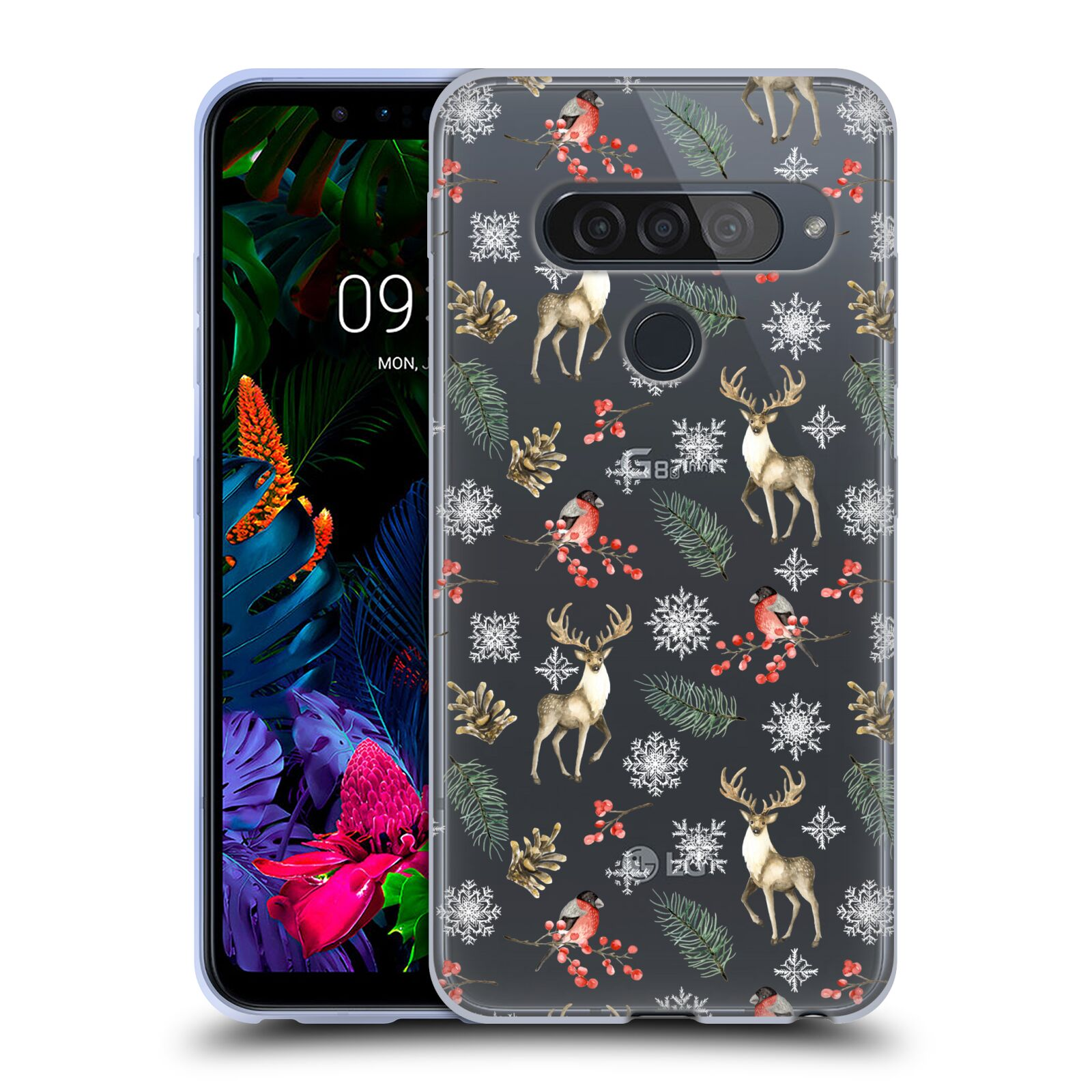 Official Julia Badeeva  Animal Patterns 4 Snowflakes Gel Case for LG G8S ThinQ