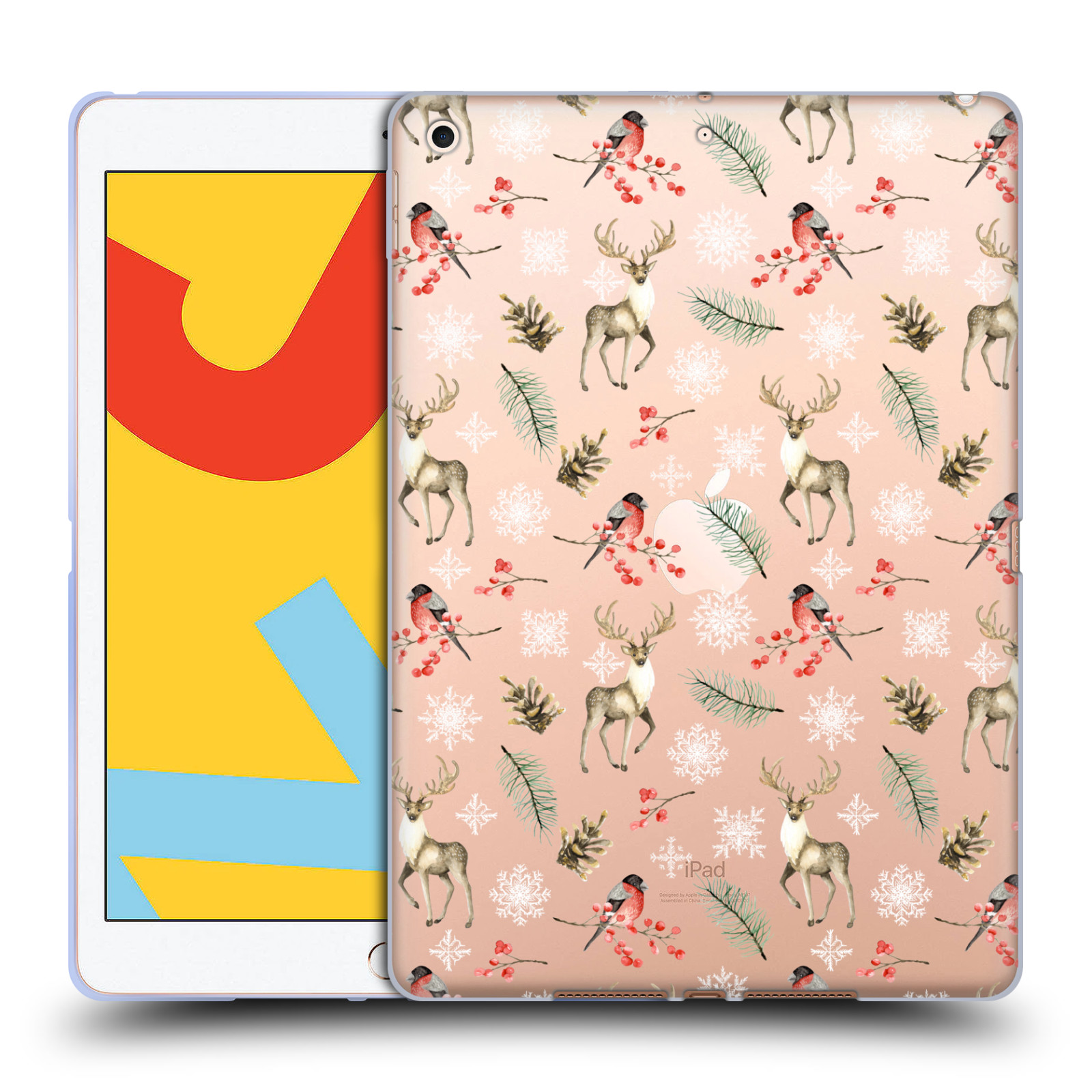 Official Julia Badeeva  Animal Patterns 4 Snowflakes Gel Case for Apple iPad 10.2 (2019)