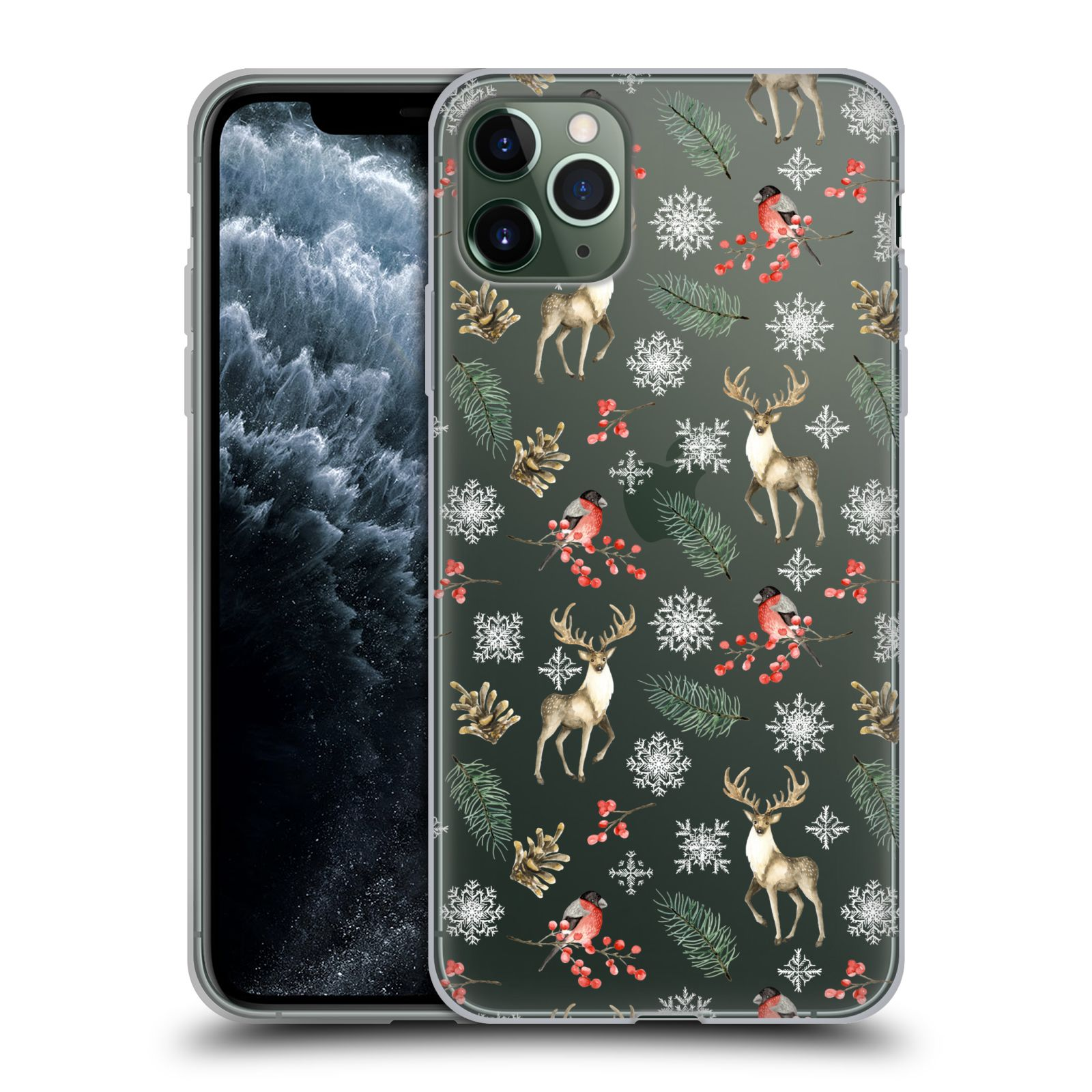 Official Julia Badeeva  Animal Patterns 4 Snowflakes Gel Case for Apple iPhone 11 Pro Max