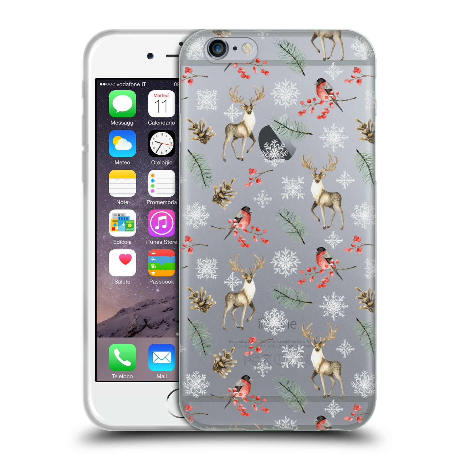 Official Julia Badeeva  Animal Patterns 4 Snowflakes Gel Case for Apple iPhone 6 / iPhone 6s