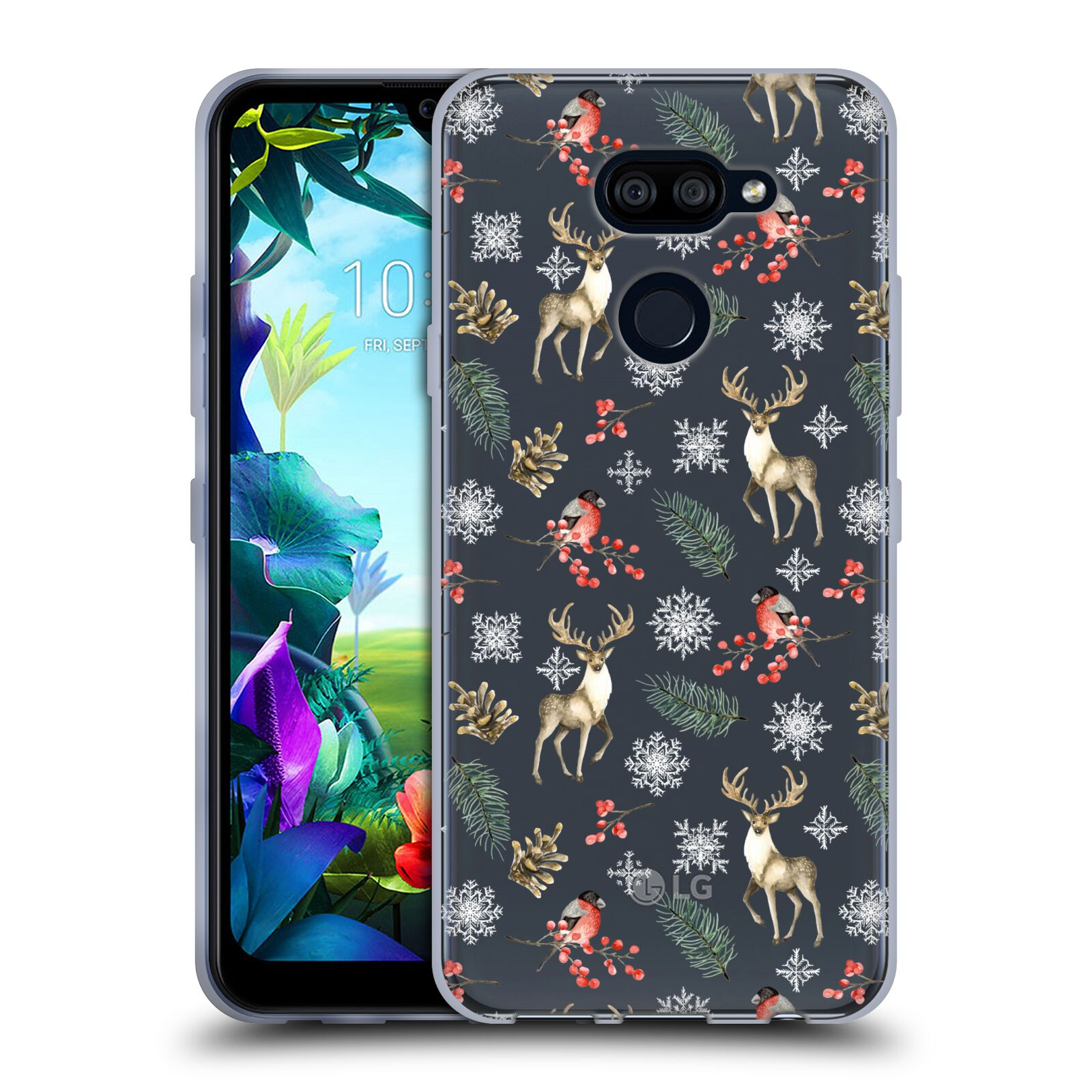 Official Julia Badeeva  Animal Patterns 4 Snowflakes Gel Case for LG K40S