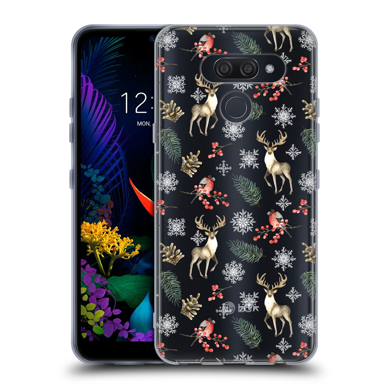 Official Julia Badeeva  Animal Patterns 4 Snowflakes Gel Case for LG K50