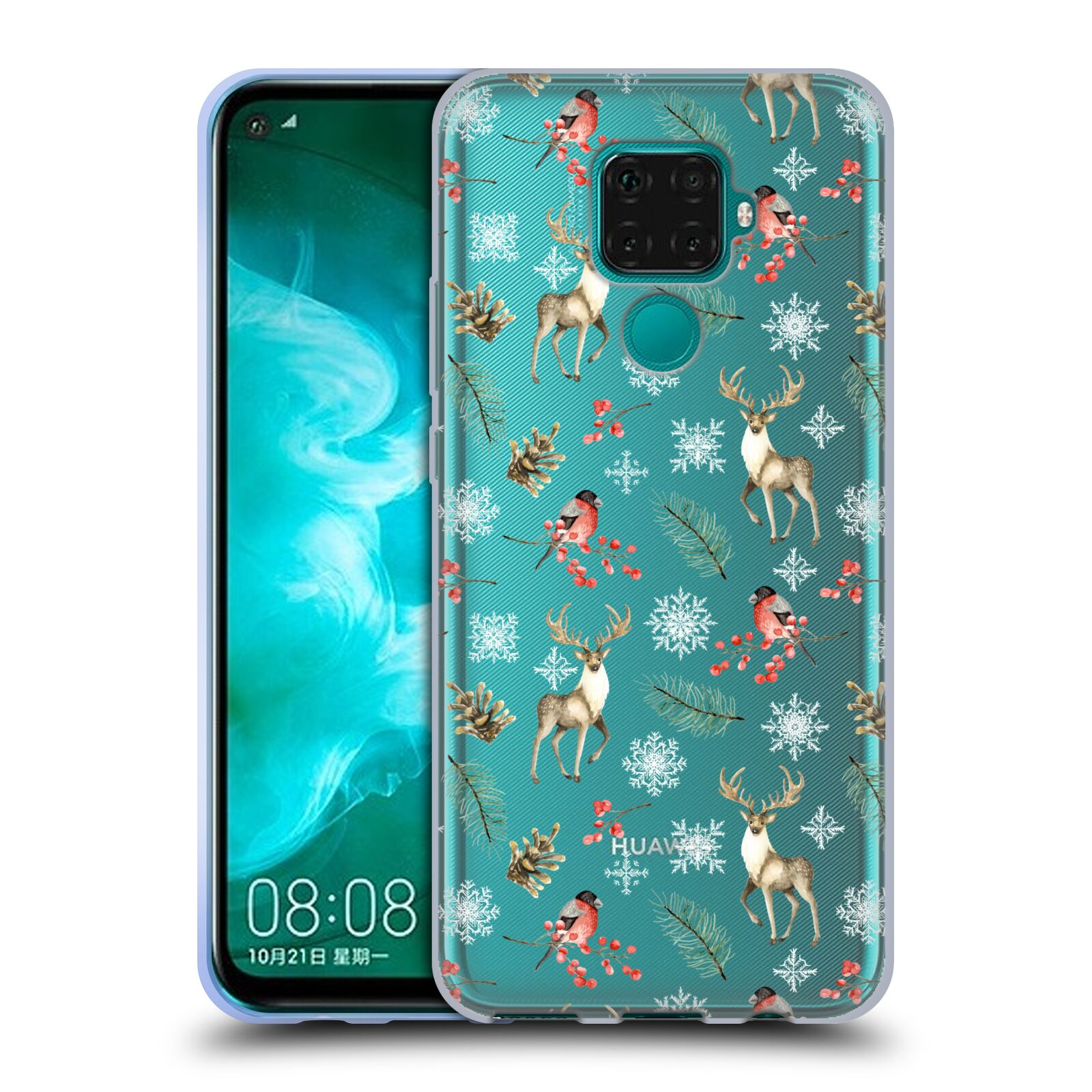 Official Julia Badeeva  Animal Patterns 4 Snowflakes Gel Case for Huawei Nova 5z