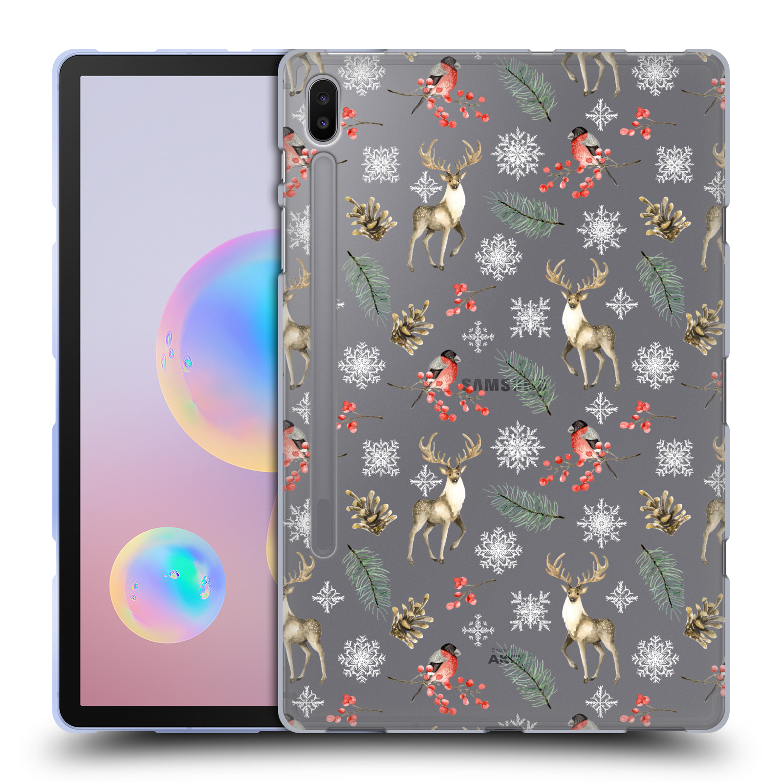 Official Julia Badeeva  Animal Patterns 4 Snowflakes Gel Case for Samsung Galaxy Tab S6 (2019)