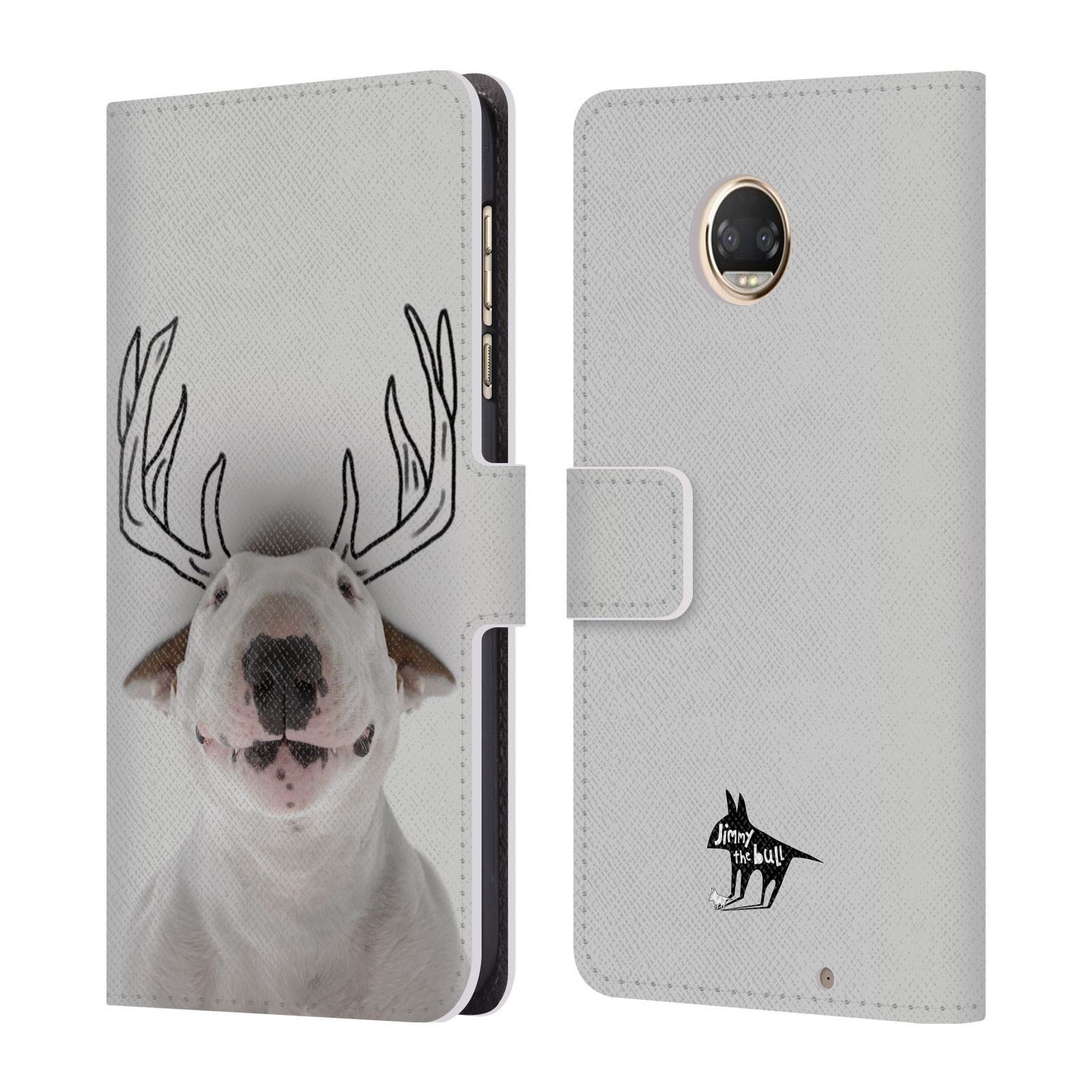 OFFICIAL-JIMMY-THE-BULL-DOODLES-LEATHER-BOOK-WALLET-CASE-FOR-MOTOROLA-PHONES