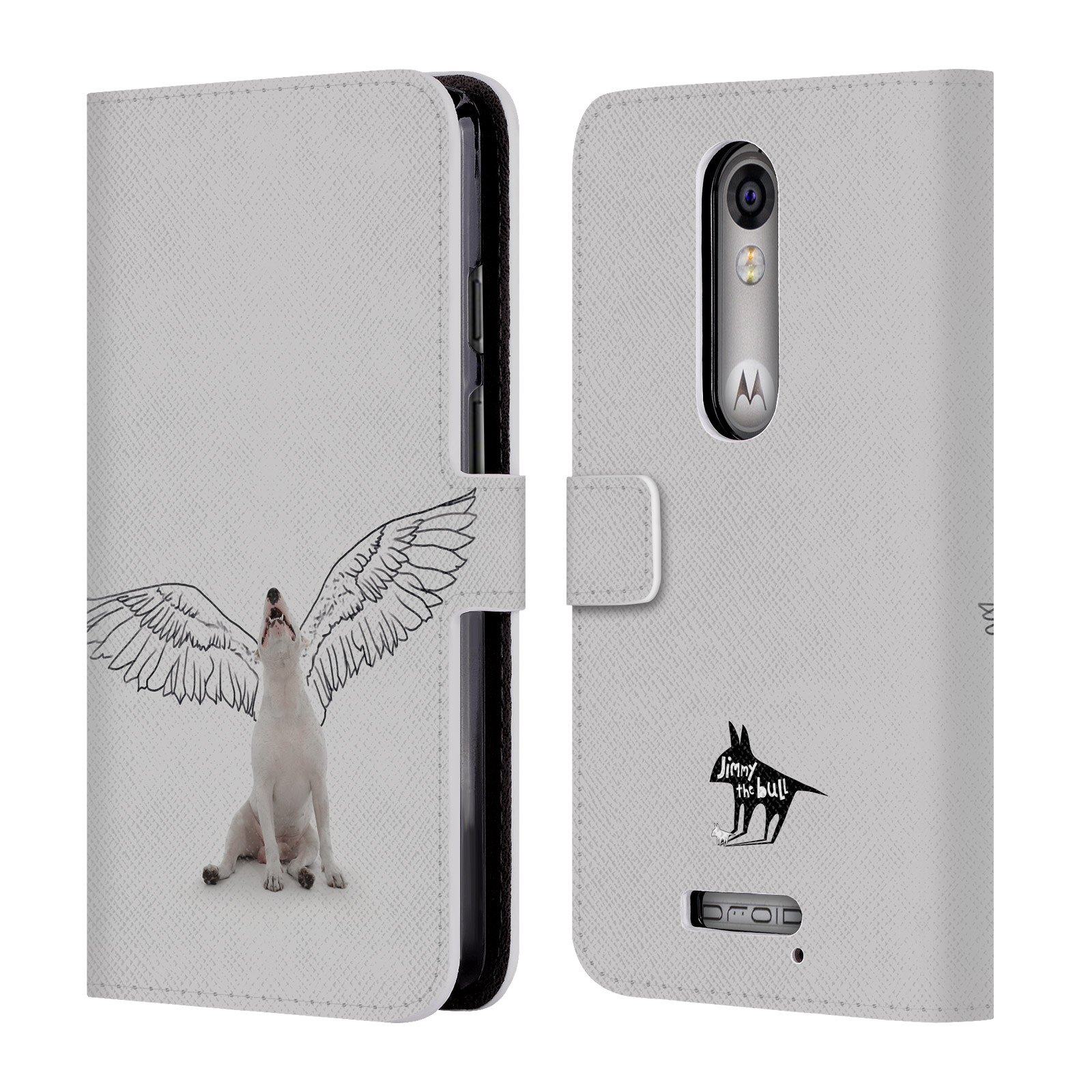 OFFICIAL-JIMMY-THE-BULL-DOODLES-2-LEATHER-BOOK-WALLET-CASE-FOR-MOTOROLA-PHONES-2