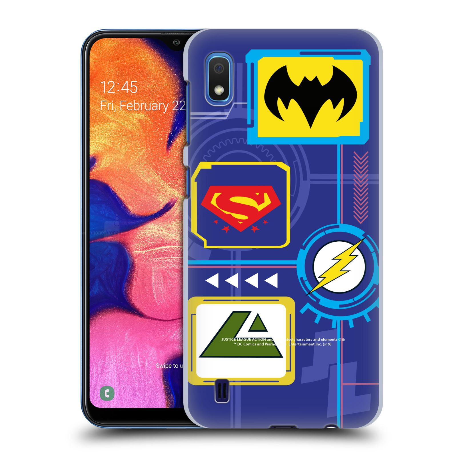 Official Justice League Action Logos Digital Case for Samsung Galaxy A10 (2019)