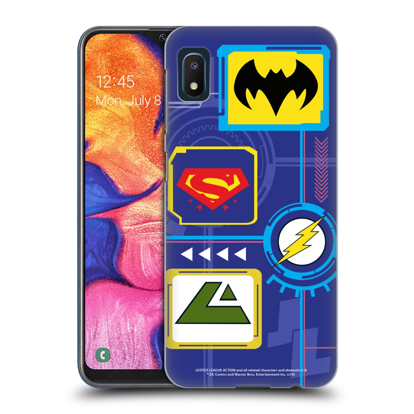 Official Justice League Action Logos Digital Case for Samsung Galaxy A10e (2019)