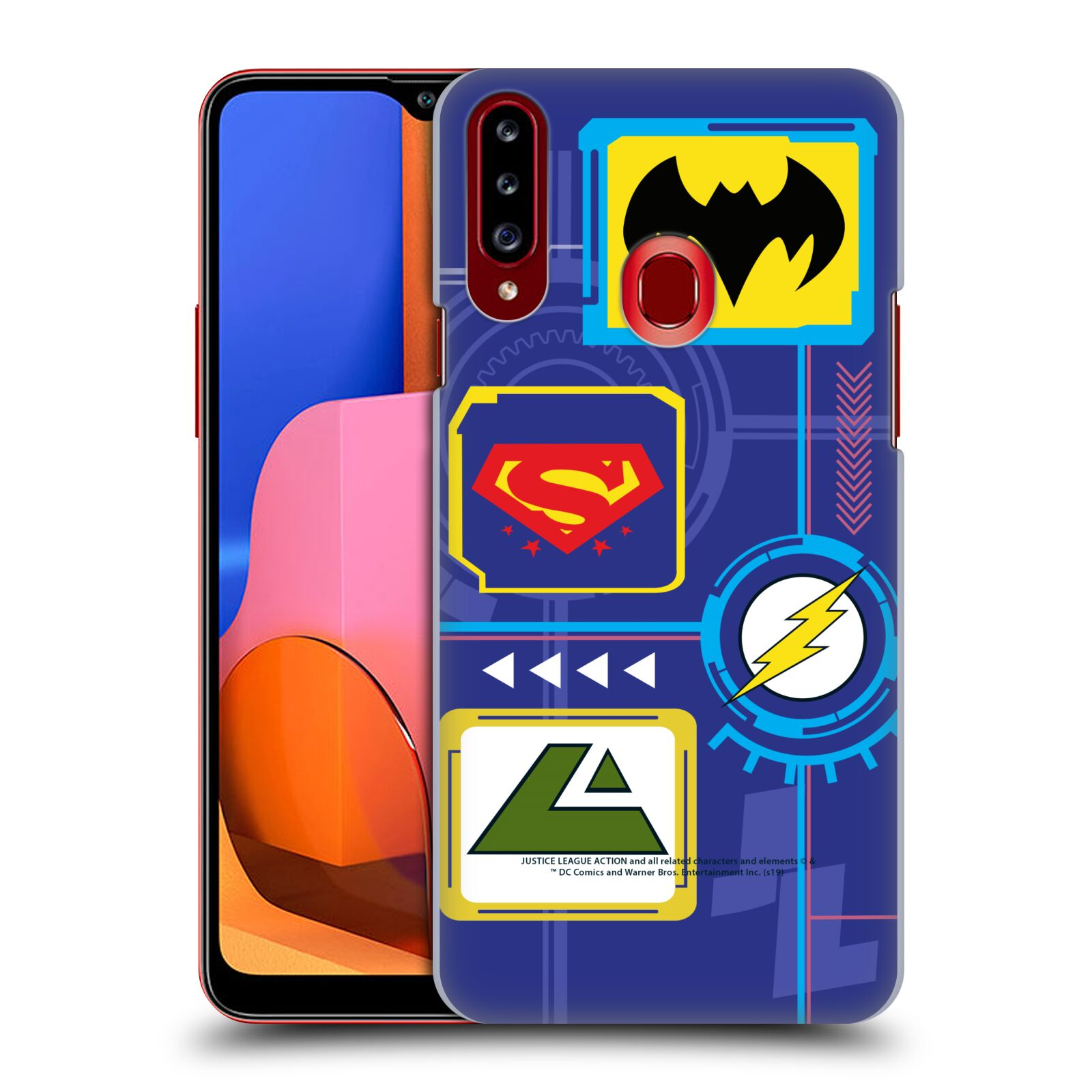 Official Justice League Action Logos Digital Case for Samsung Galaxy A20s (2019)