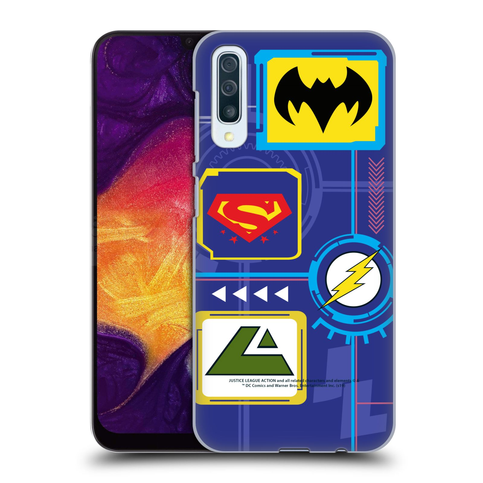 Official Justice League Action Logos Digital Case for Samsung Galaxy A50/A30s (2019)