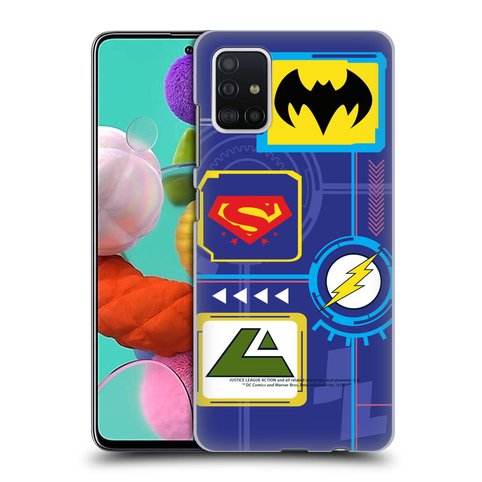 Official Justice League Action Logos Digital Case for Samsung Galaxy A51 (2019)