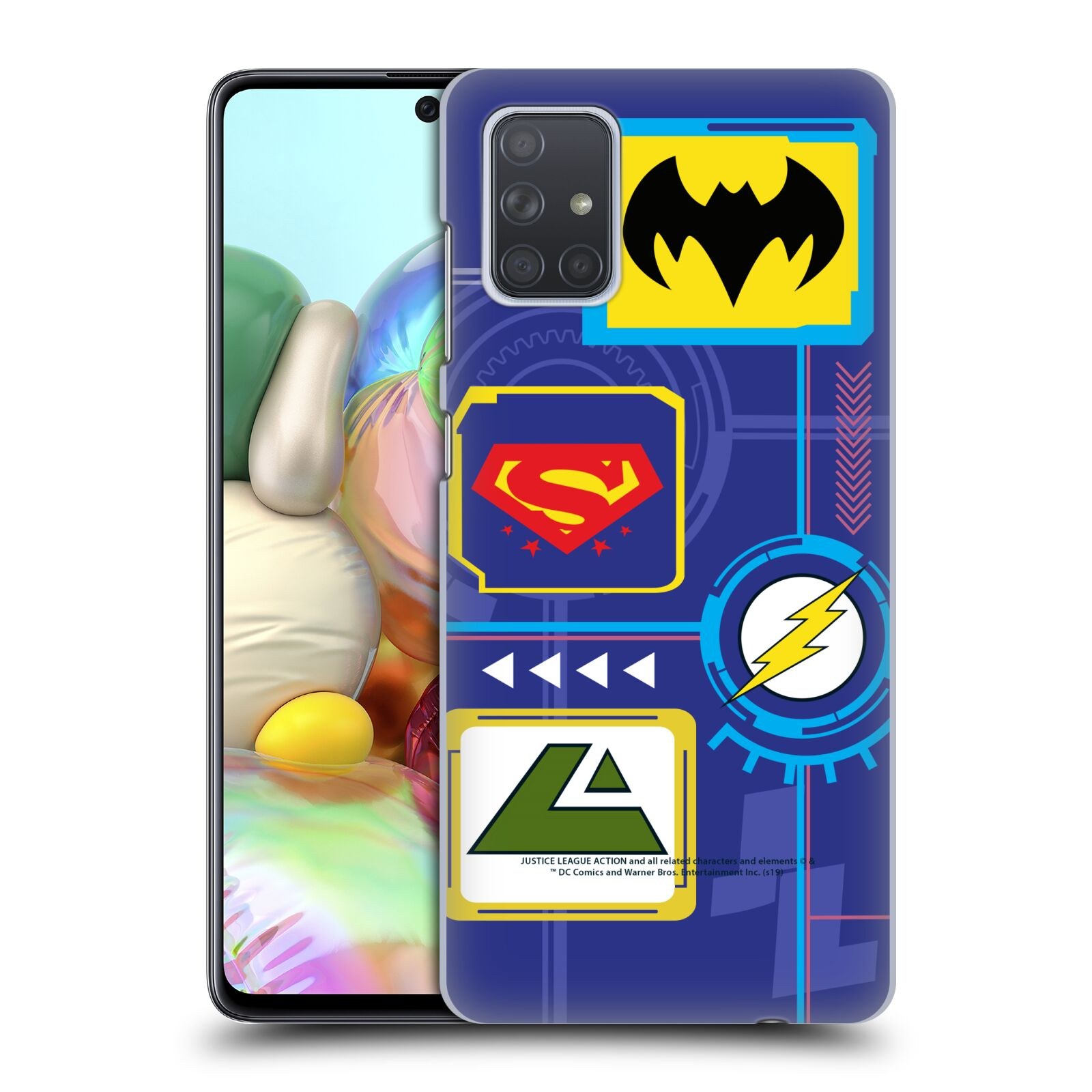Official Justice League Action Logos Digital Case for Samsung Galaxy A71 (2019)